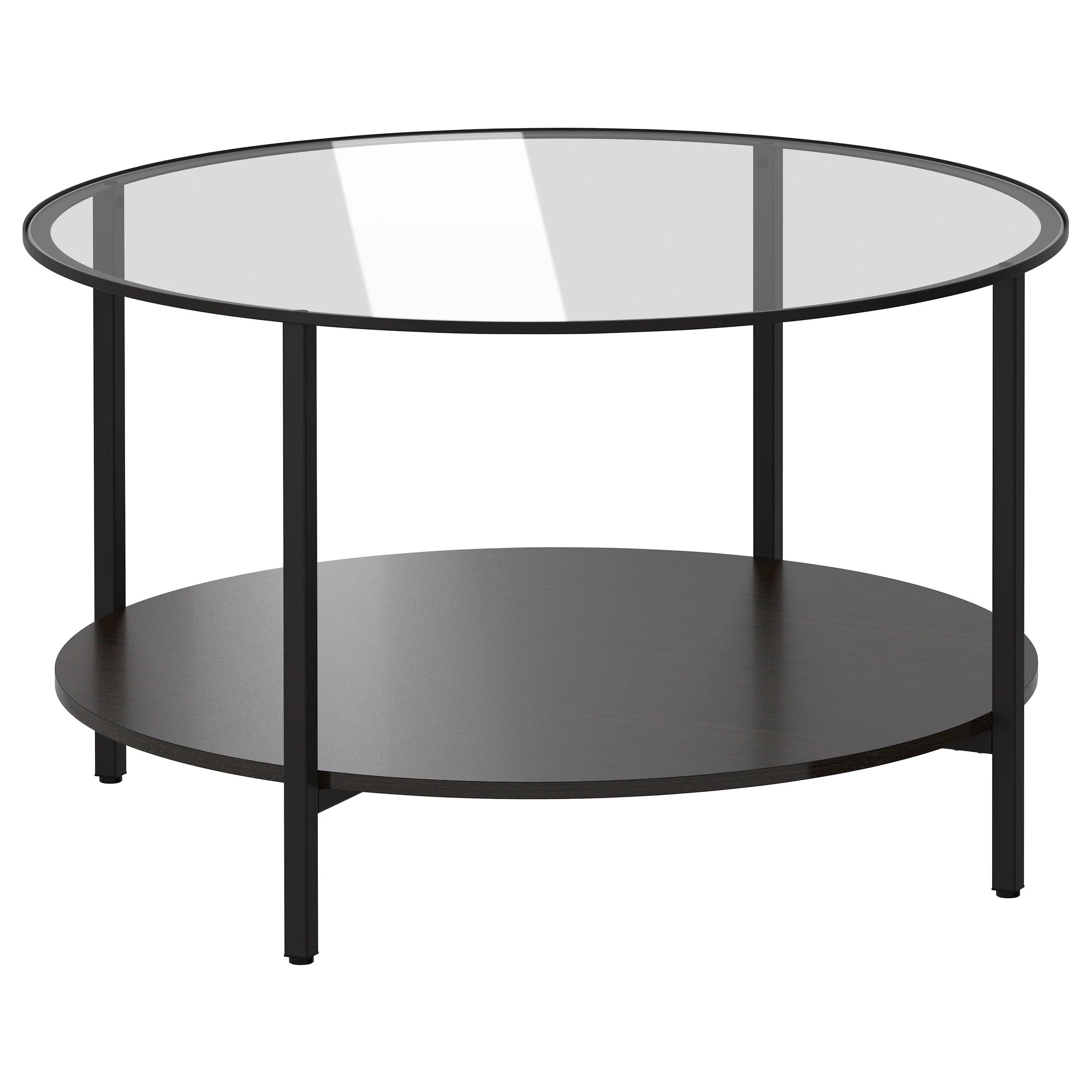Protege Table En Verre VittsjÖ Table Basse Brun Noir Verre