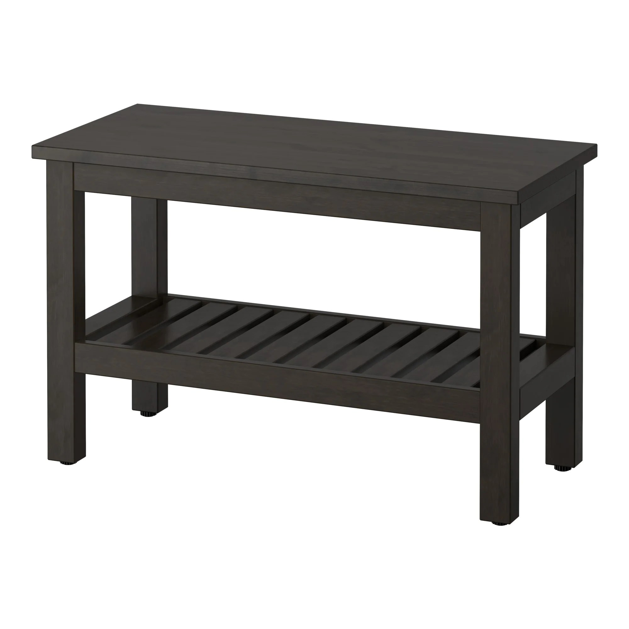 Black Bench Hemnes Bench Black Brown Stain