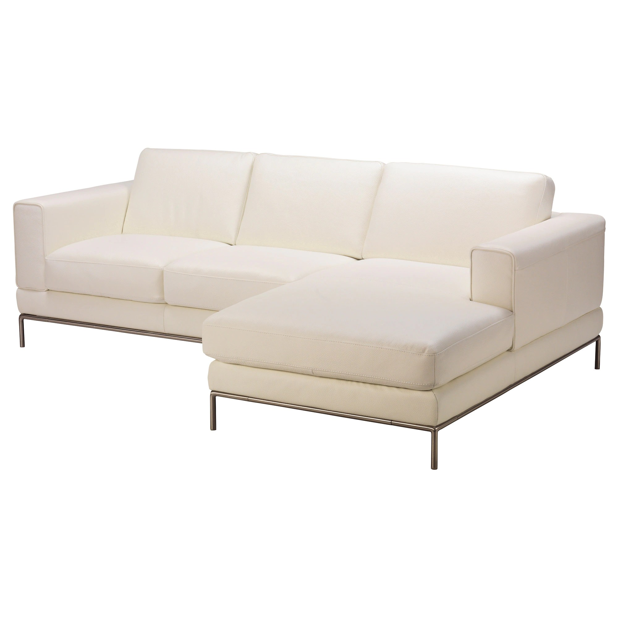 Chaiselongue Recamiere Arild 2 Seat Sofa W Chaise Longue Right Grann White