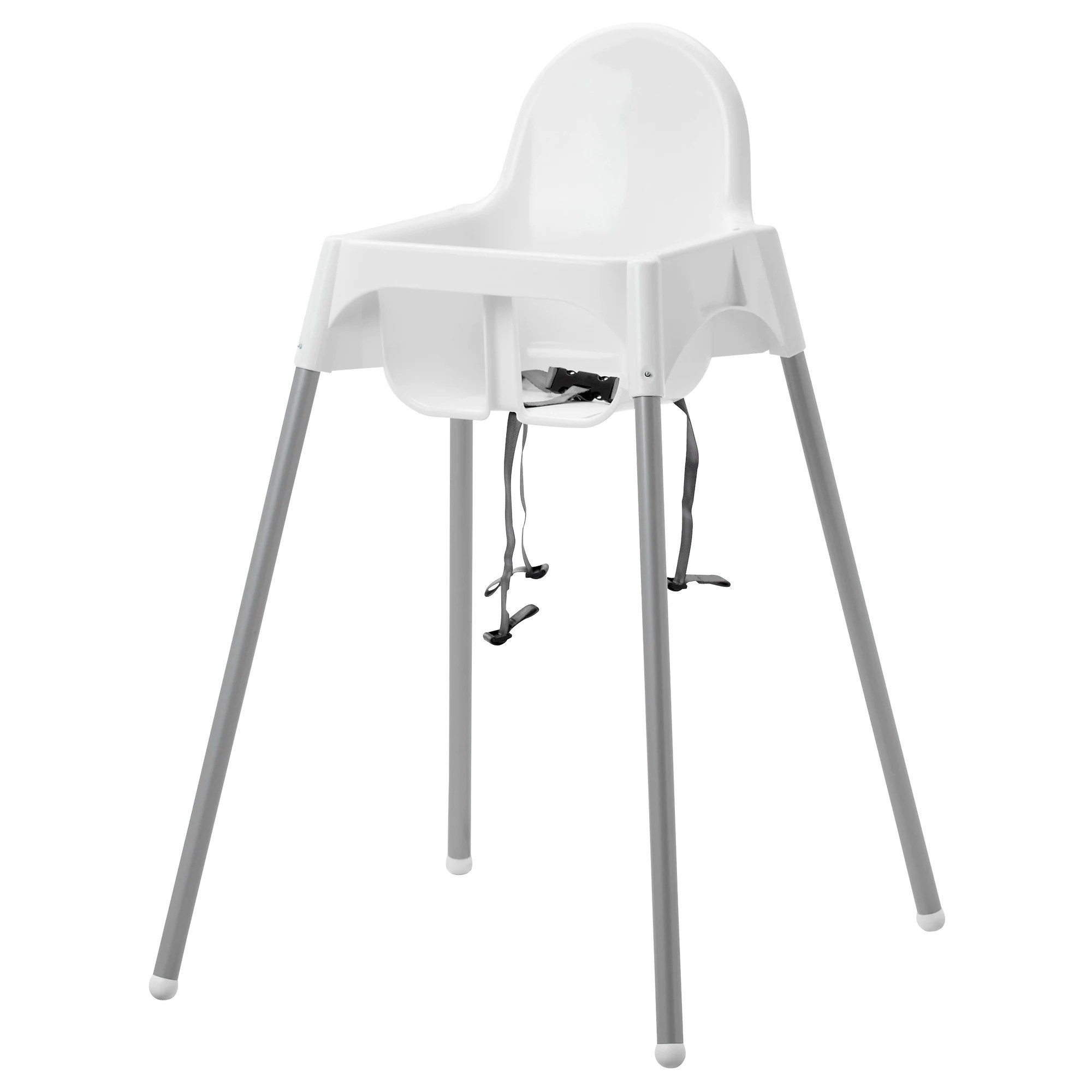 Safety Belt Antilop High Chair With Safety Belt White Silver Color