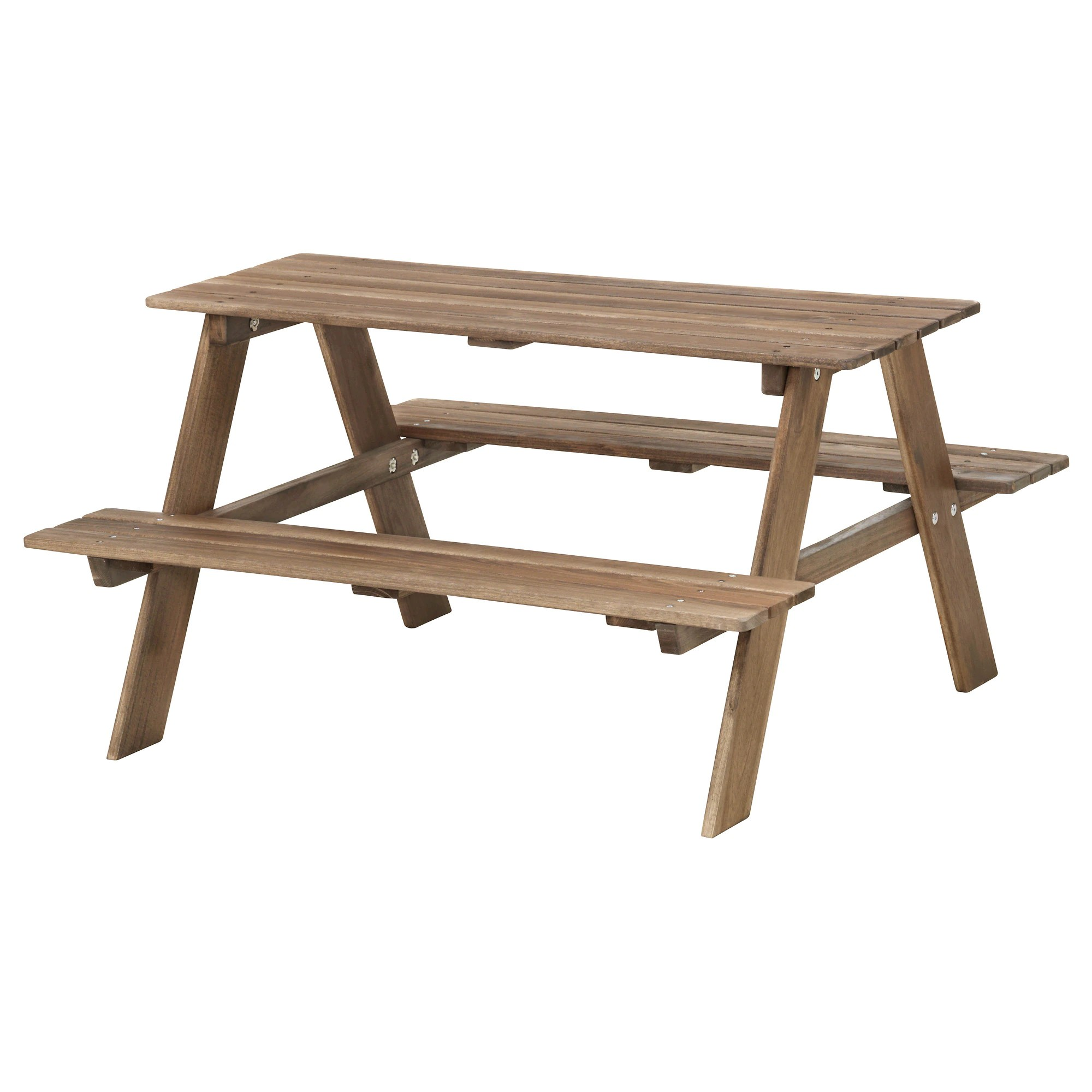 Patio Furniture Winnipeg ResÖ Children S Picnic Table Gray Brown Stained Gray Brown