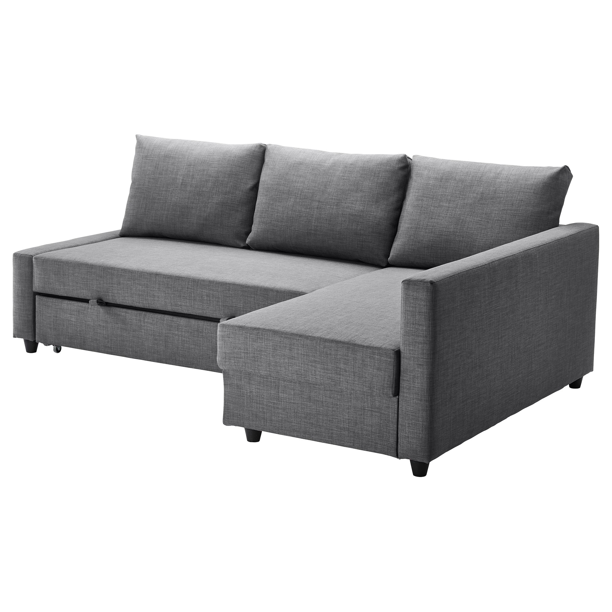 Bettsofa Florida Friheten Sleeper Sectional 3 Seat W Storage Skiftebo Dark Gray