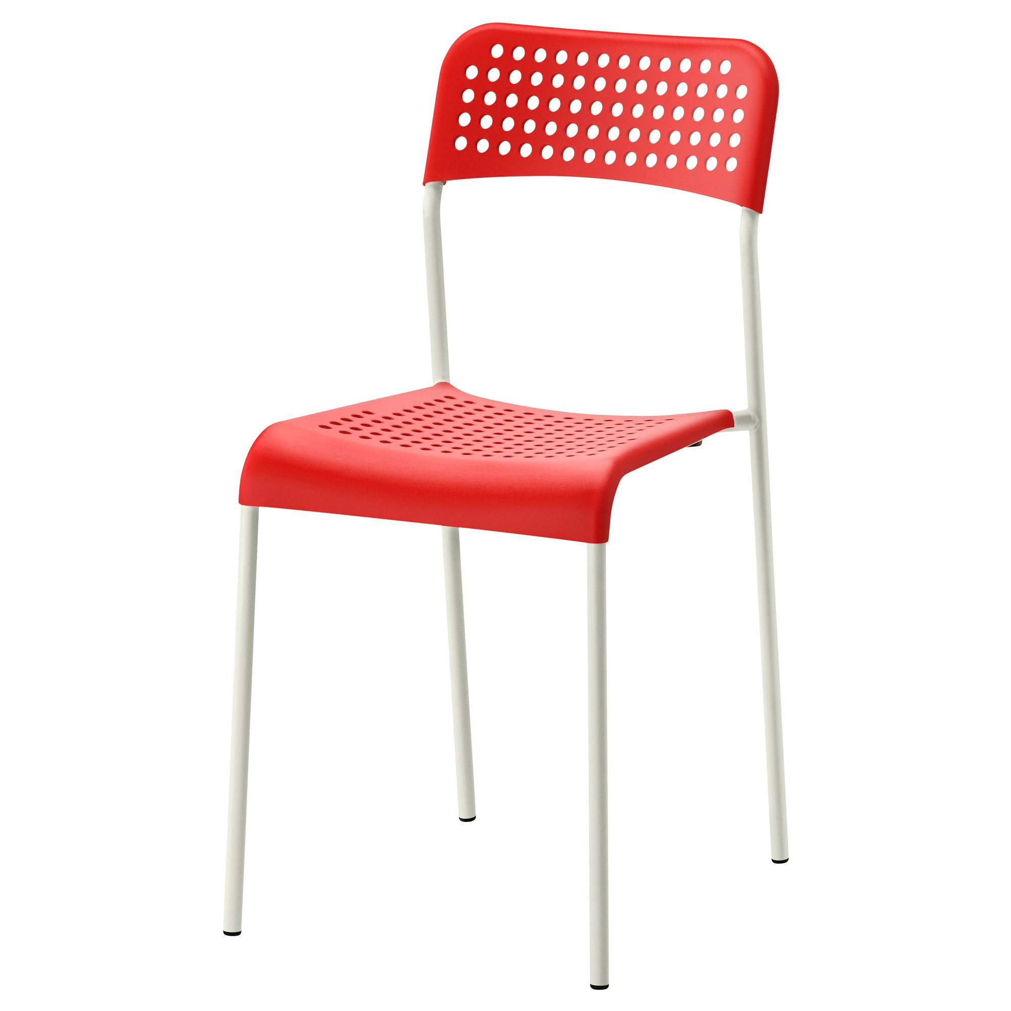 Chaises Empilables Ikea Chaise Adde Rouge Blanc