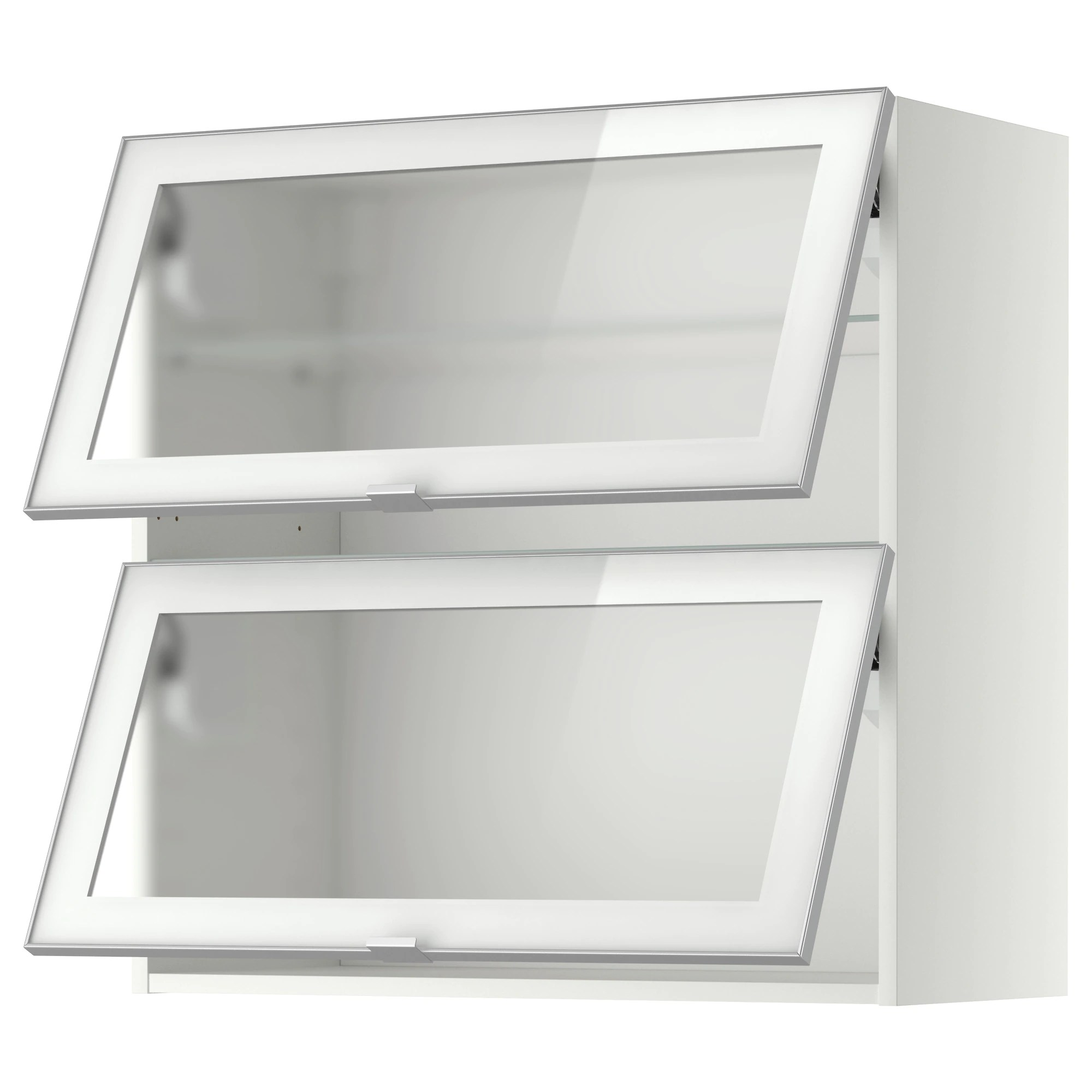Metod Ikea Hängeschrank Metod Wall Cab Horizontal W 2 Glass Doors White Jutis Smoked Glass