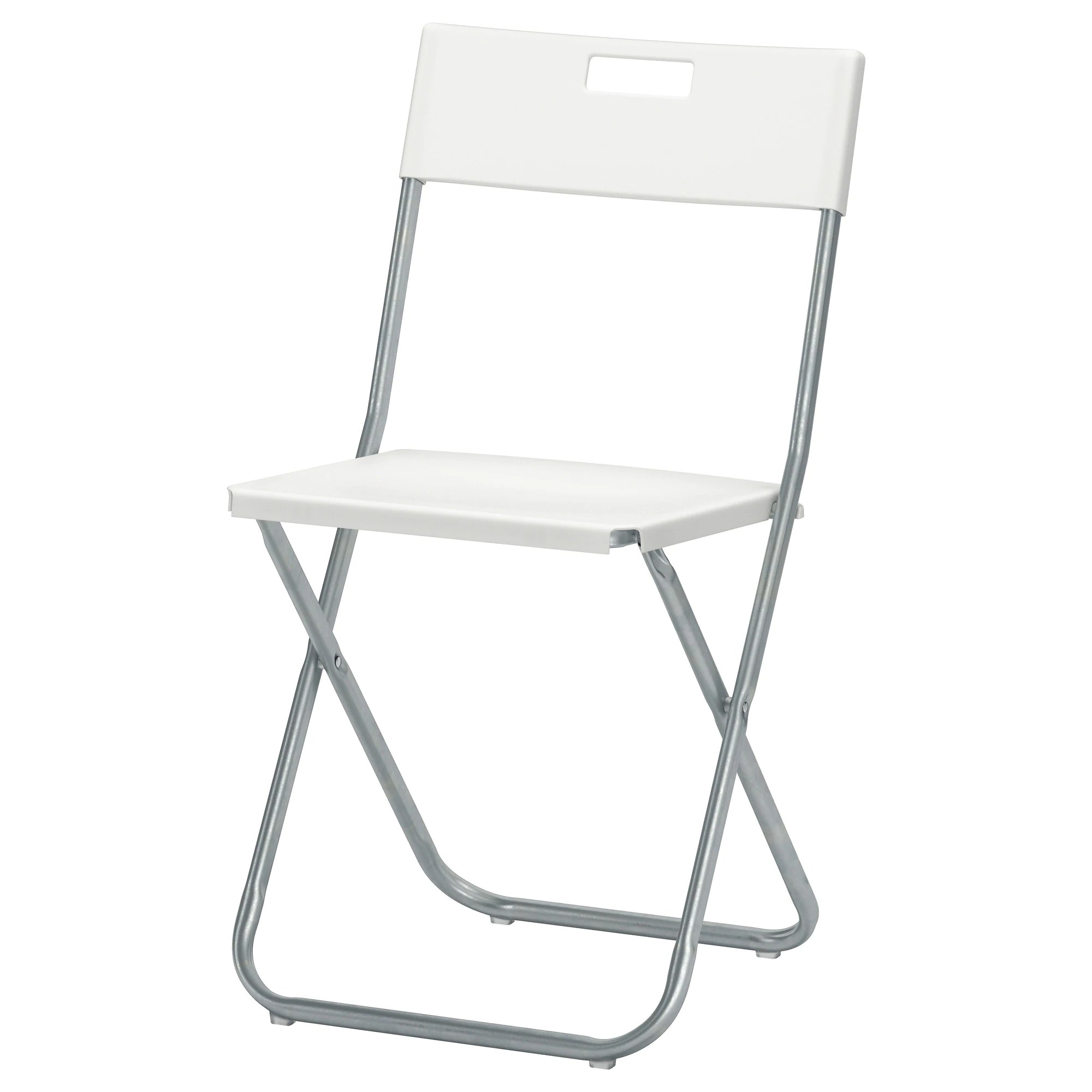 Collapsible Chair Gunde Folding Chair White