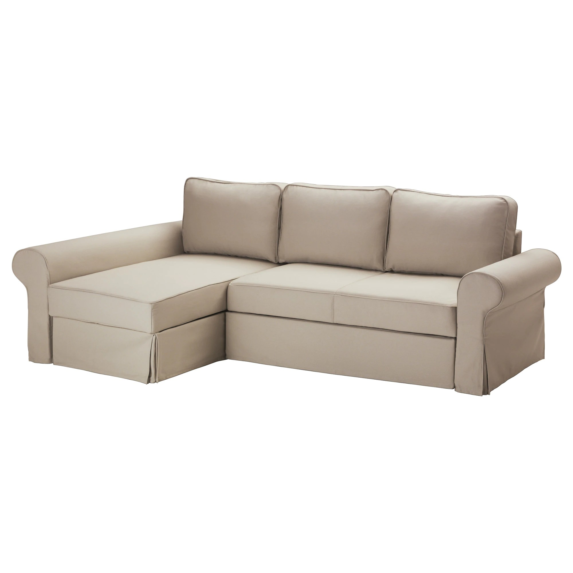 Backabro Ecksofa Backabro Bettsofa Recamiere Tygelsjö Beige Ikea