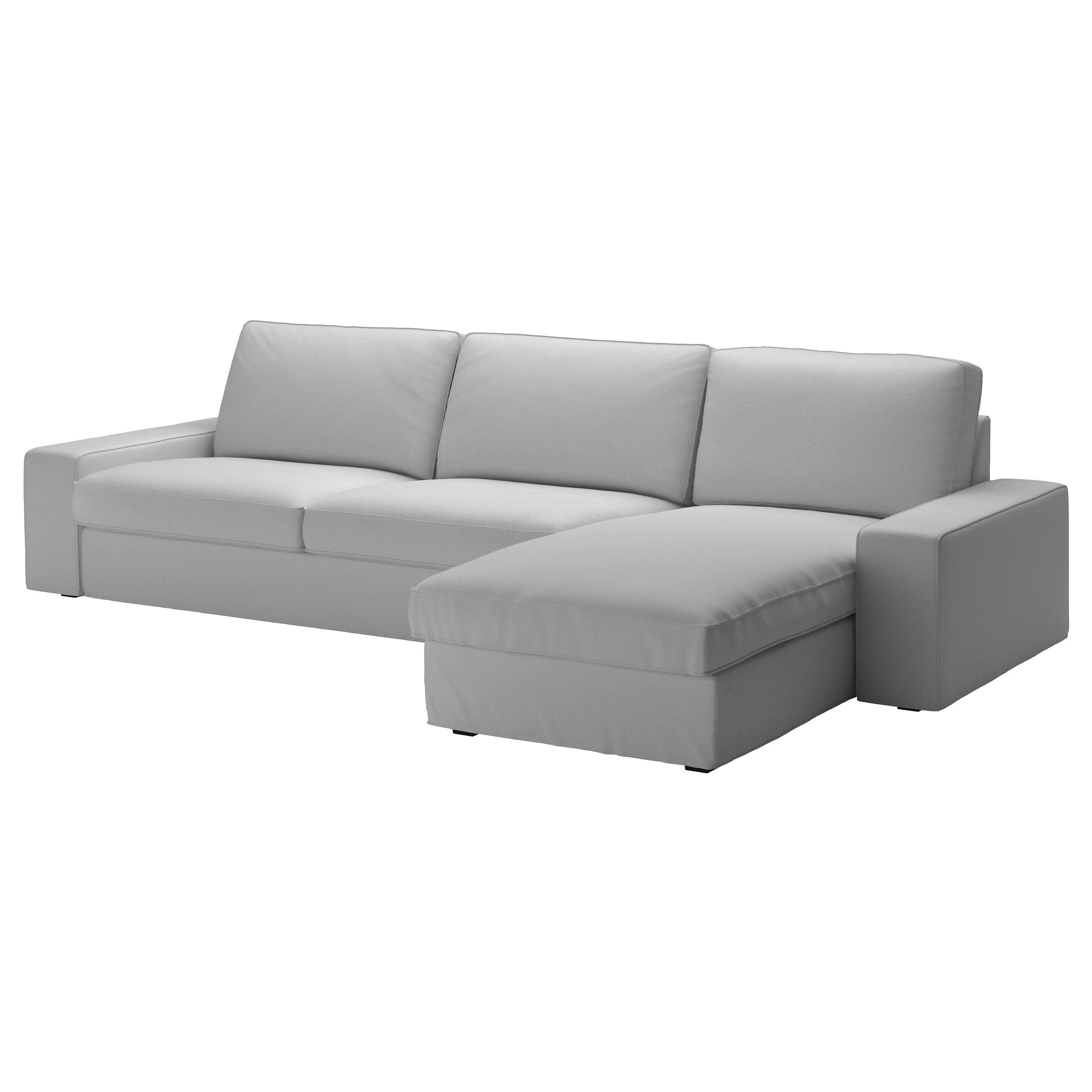 Chaise Grise Ikea Kivik Sectional 4 Seat Orrsta With Chaise Orrsta Light Gray