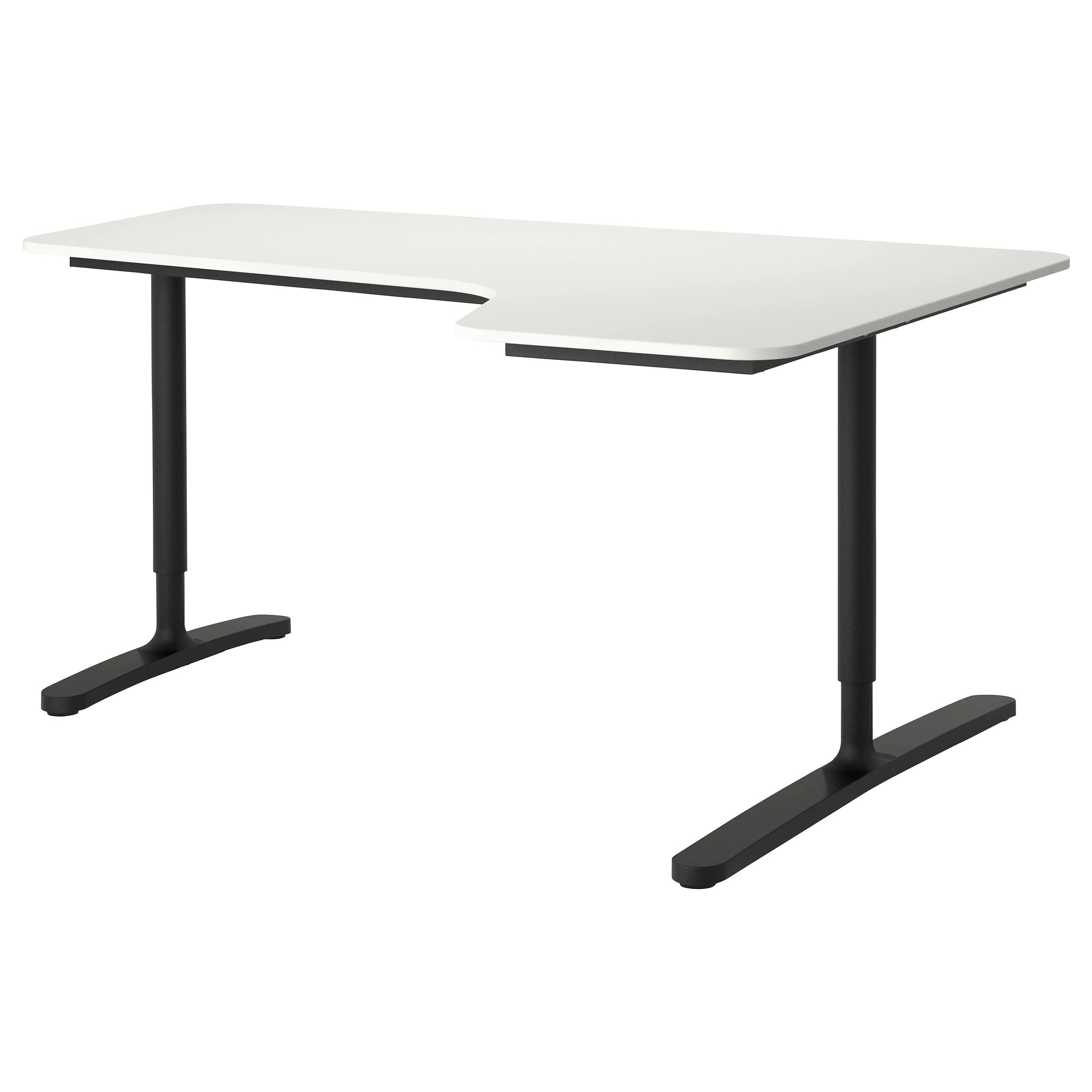 Ecktisch Ikea Bekant Corner Desk Right White Black