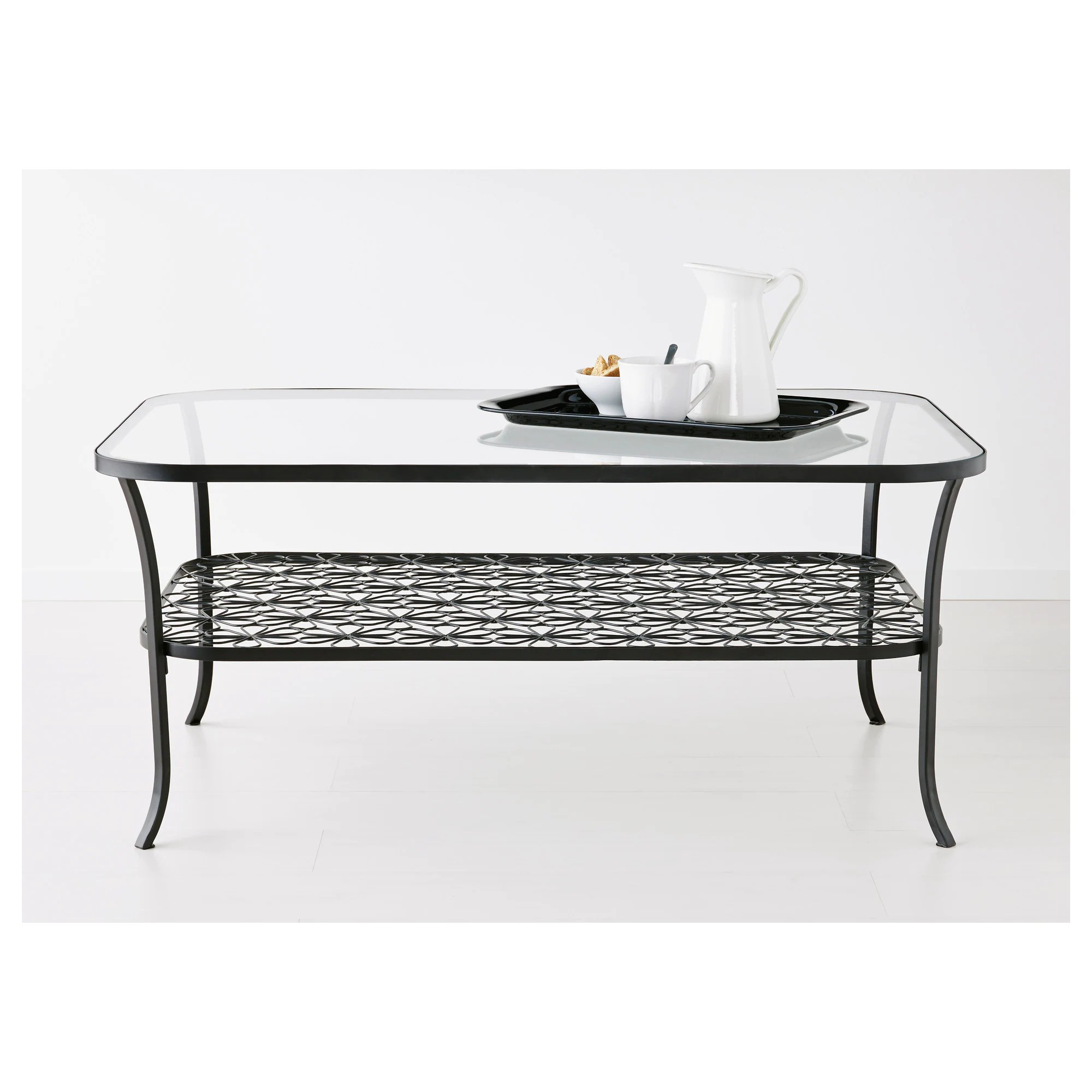 Table Ikea En Verre Klingsbo Coffee Table Black Clear Glass