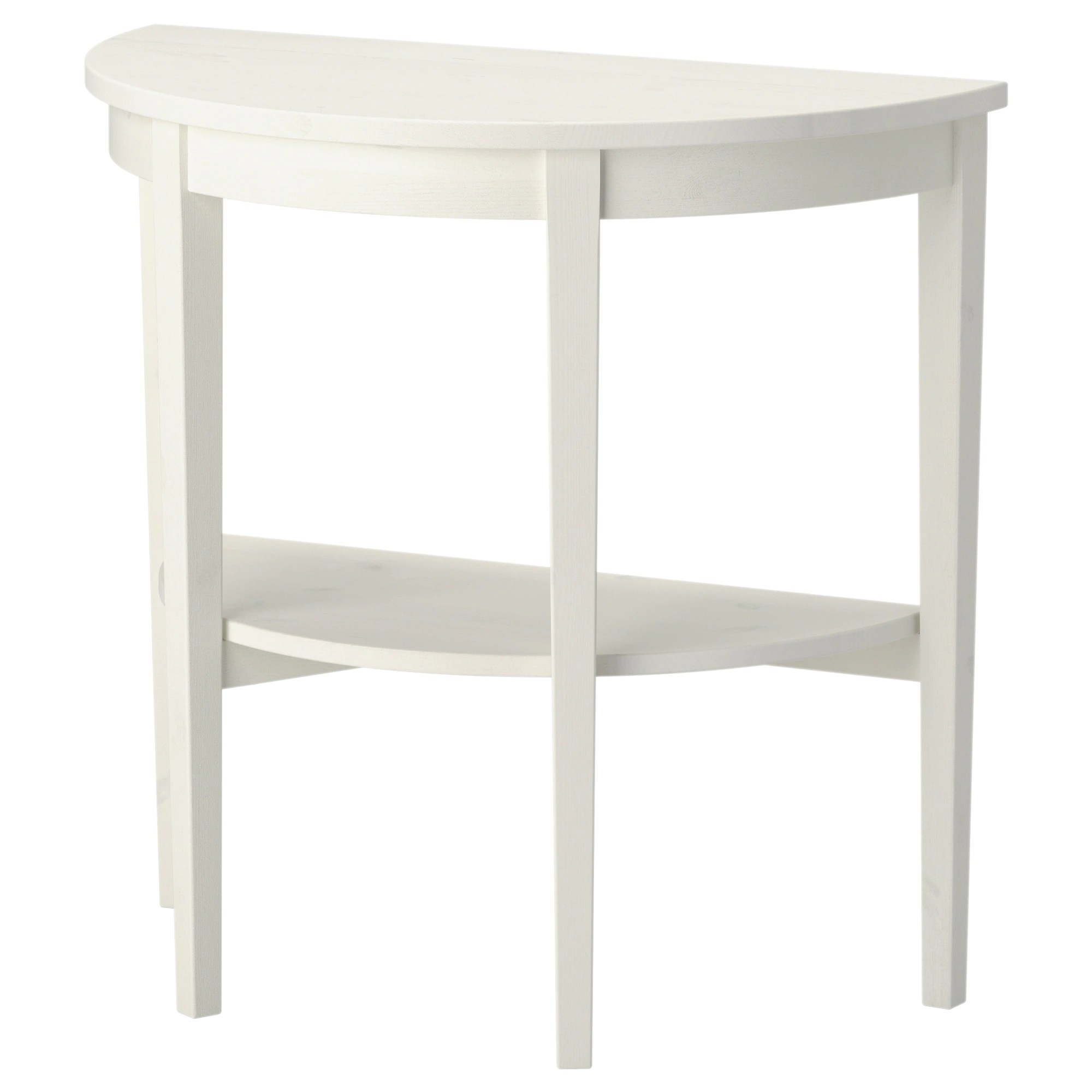 Table Demi Ronde Table Demi Lune Arkelstorp Blanc