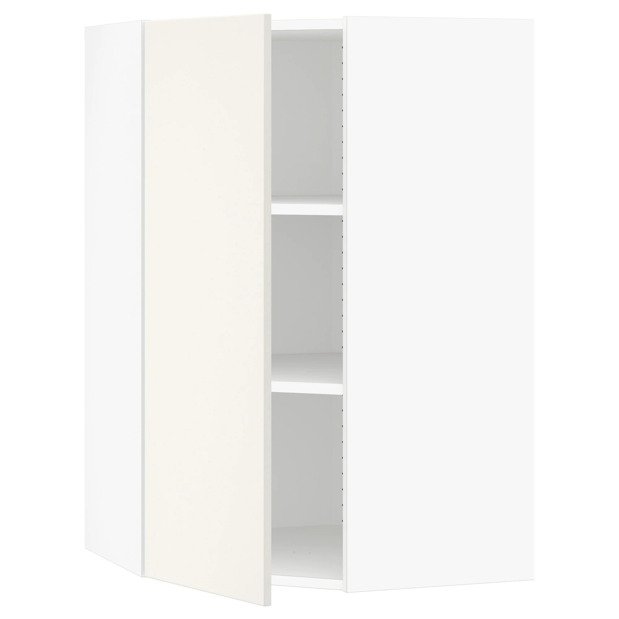 Ikea Kitchen Tall Corner Cabinet Sektion Corner Wall Cabinet With Shelves White Veddinge White