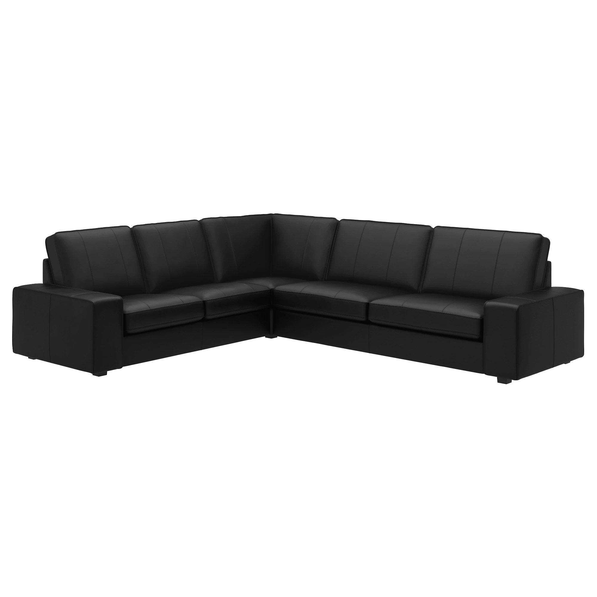 Kivik Sofa Leather Kivik Sectional 5 Seat Corner Grann Bomstad Dark Brown