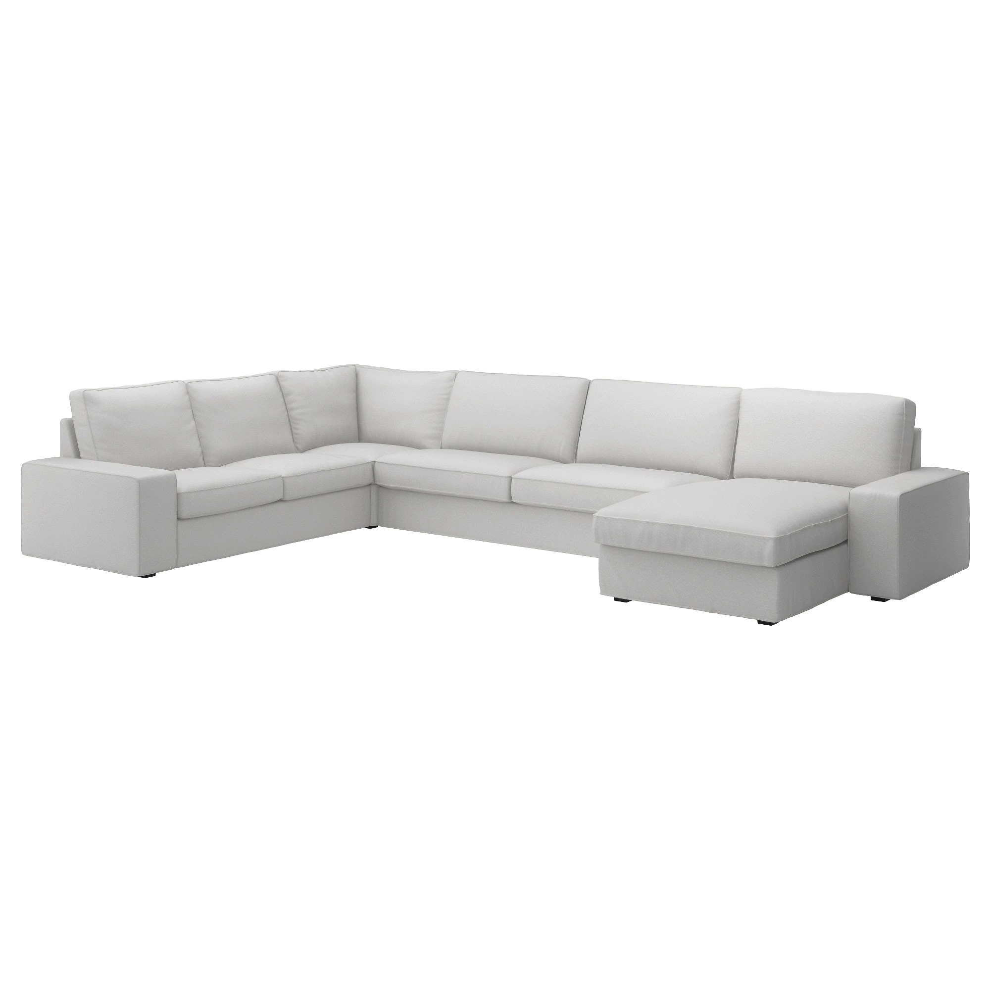Canapé D'angle Ikea Kivik Kivik Sectional 5 Seat With Chaise Orrsta Orrsta Light Gray