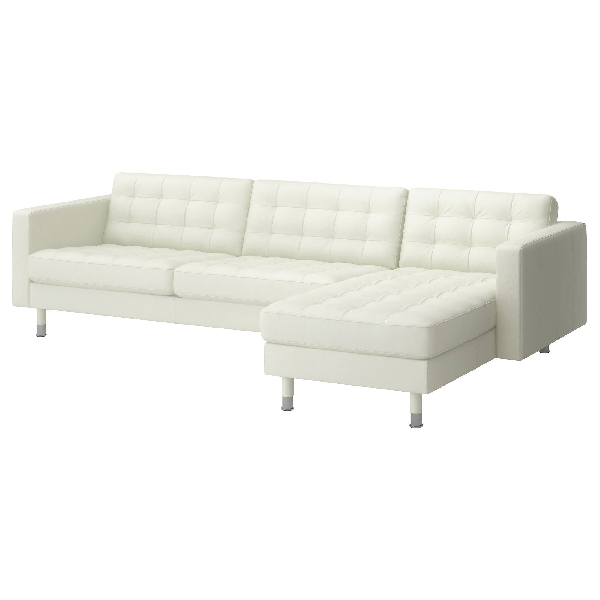 Sofa With Foam Seats Landskrona Sectional 4 Seat With Chaise Grann Bomstad Grann Bomstad White Metal