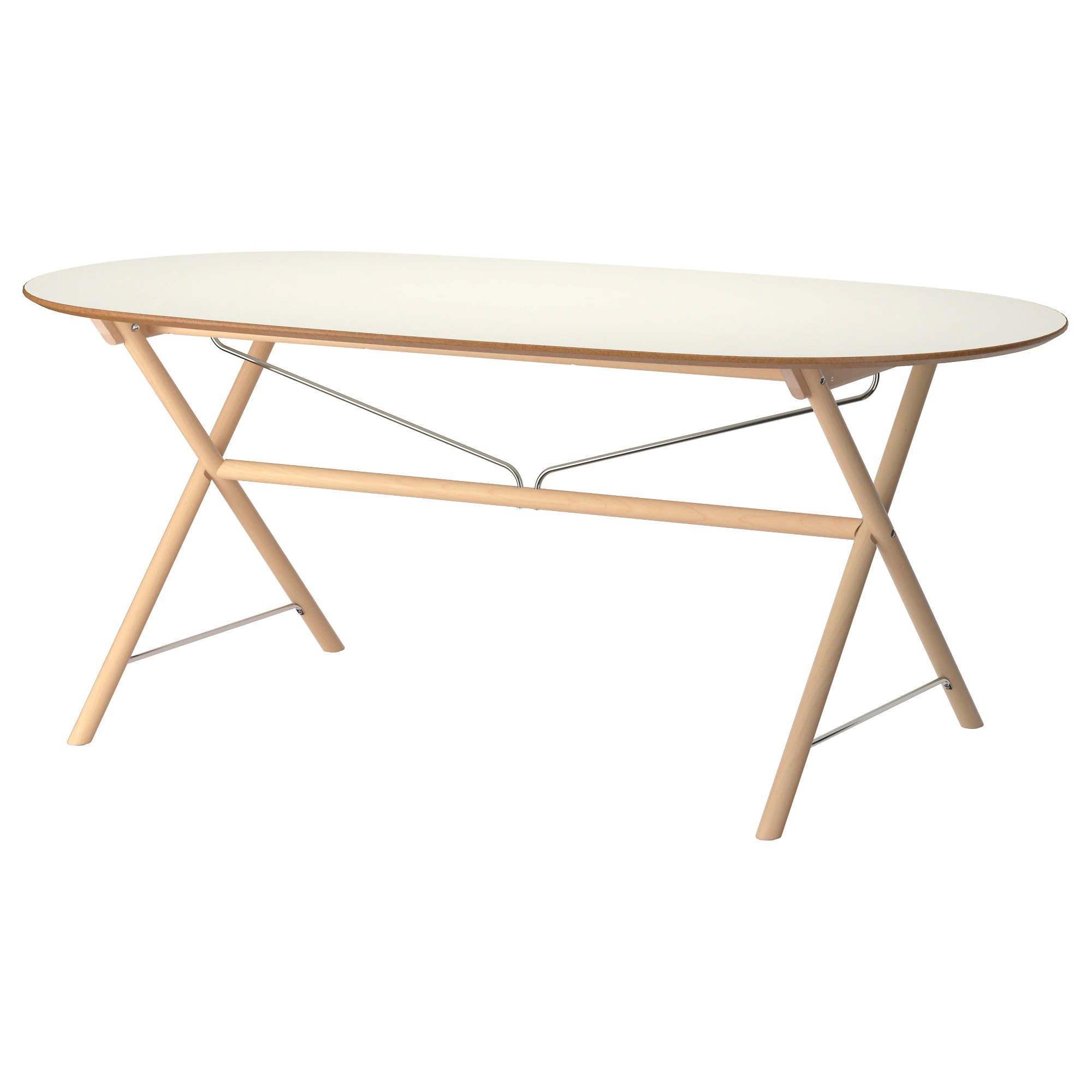 Folding Wooden Table Ikea SlÄhult Table White Birch Dalshult White Birch