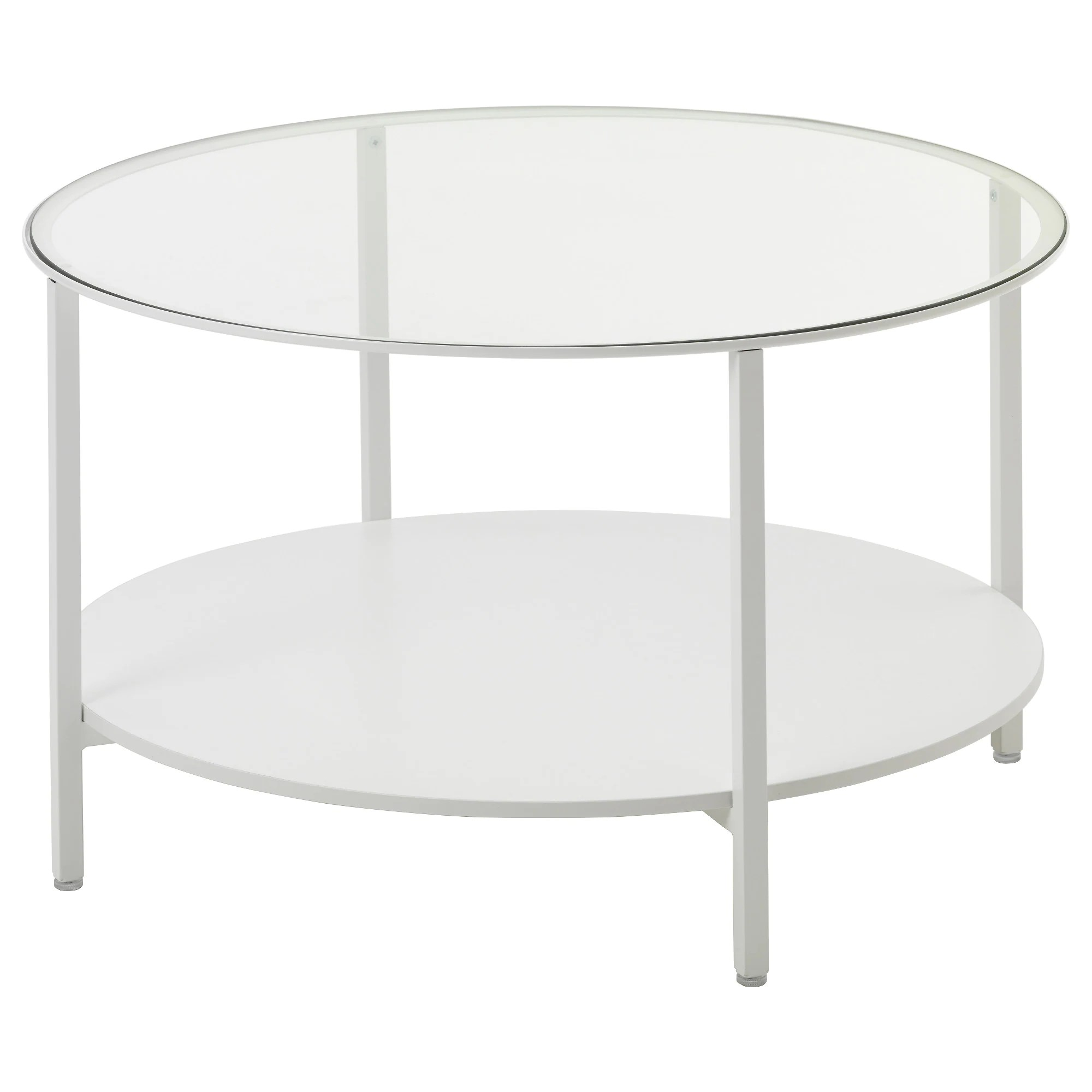Table Basse Ikea Ronde VittsjÖ Table Basse Brun Noir Verre