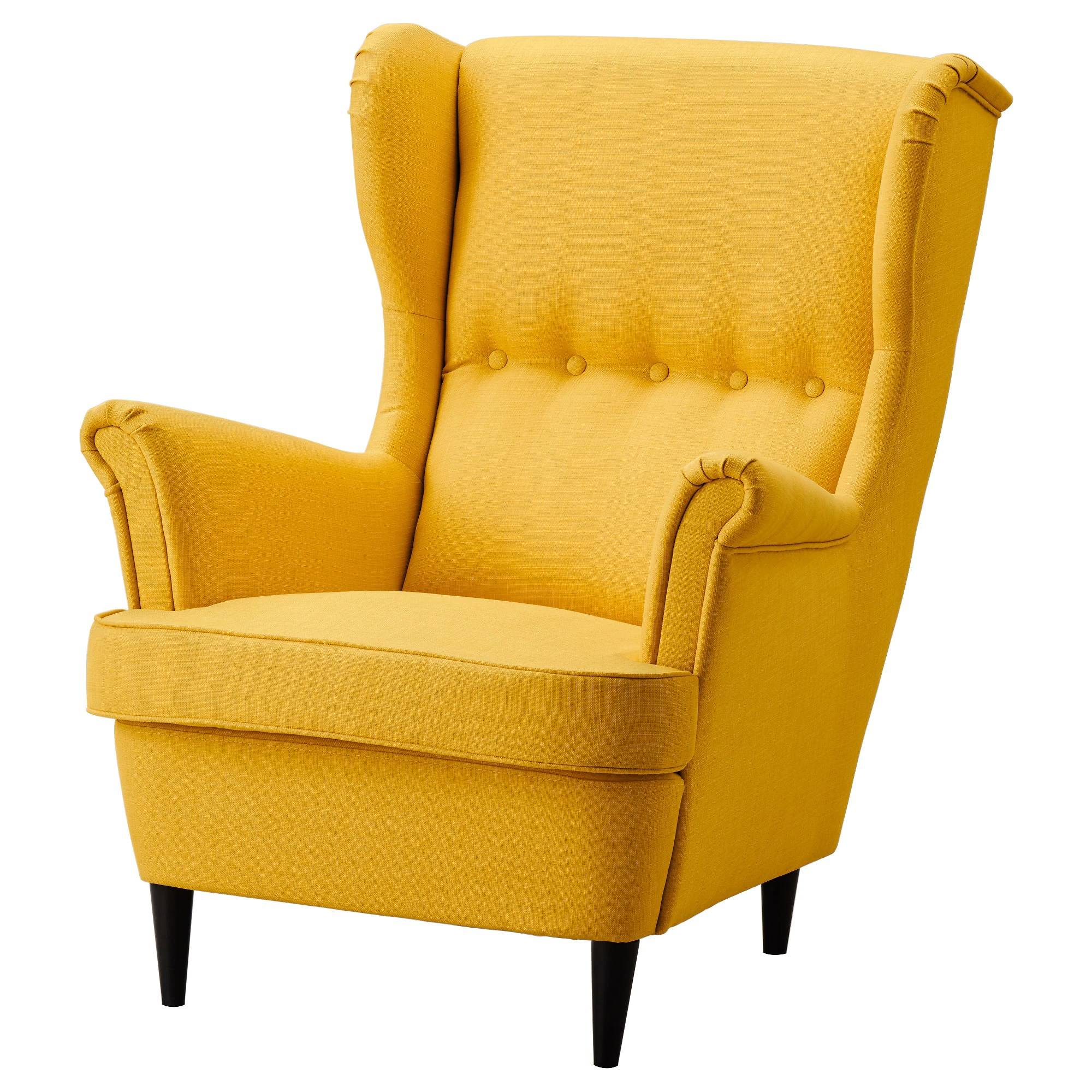 Remsta Sessel Wing Chair Strandmon Skiftebo Yellow