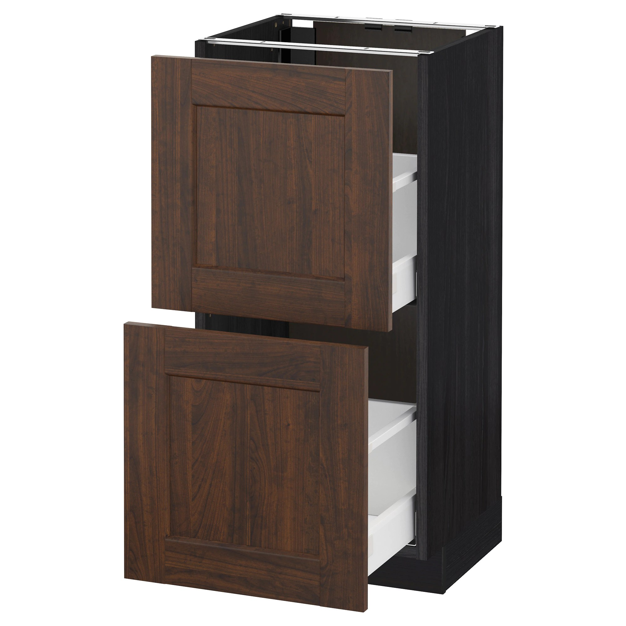 Cucina Ikea Metod Kungsbacka Metod Maximera Base Cabinet With 2 Drawers Black Kungsbacka Anthracite