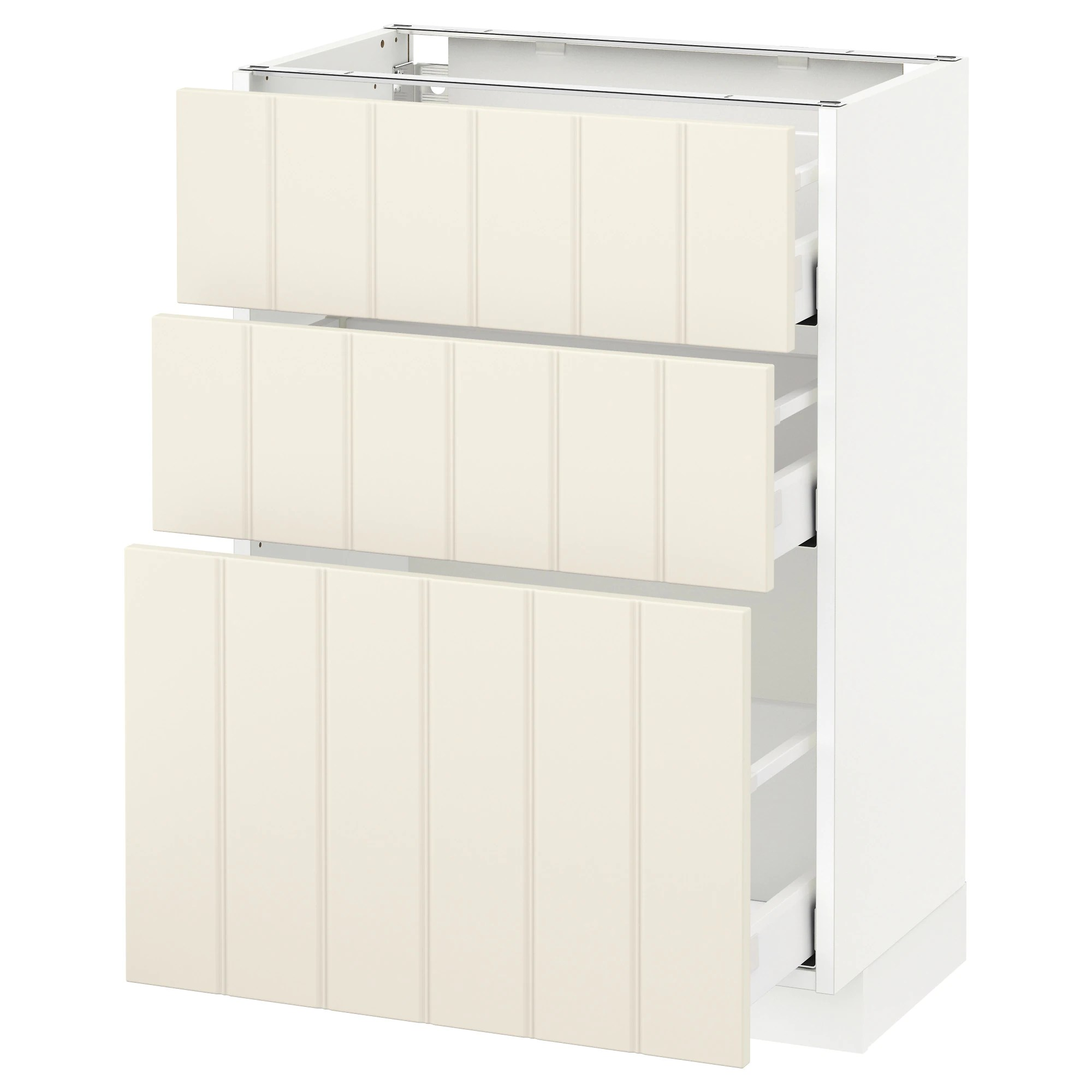 Ikea Küche Metod Maximera Metod Maximera Base Cabinet With 3 Drawers White Hittarp Off White