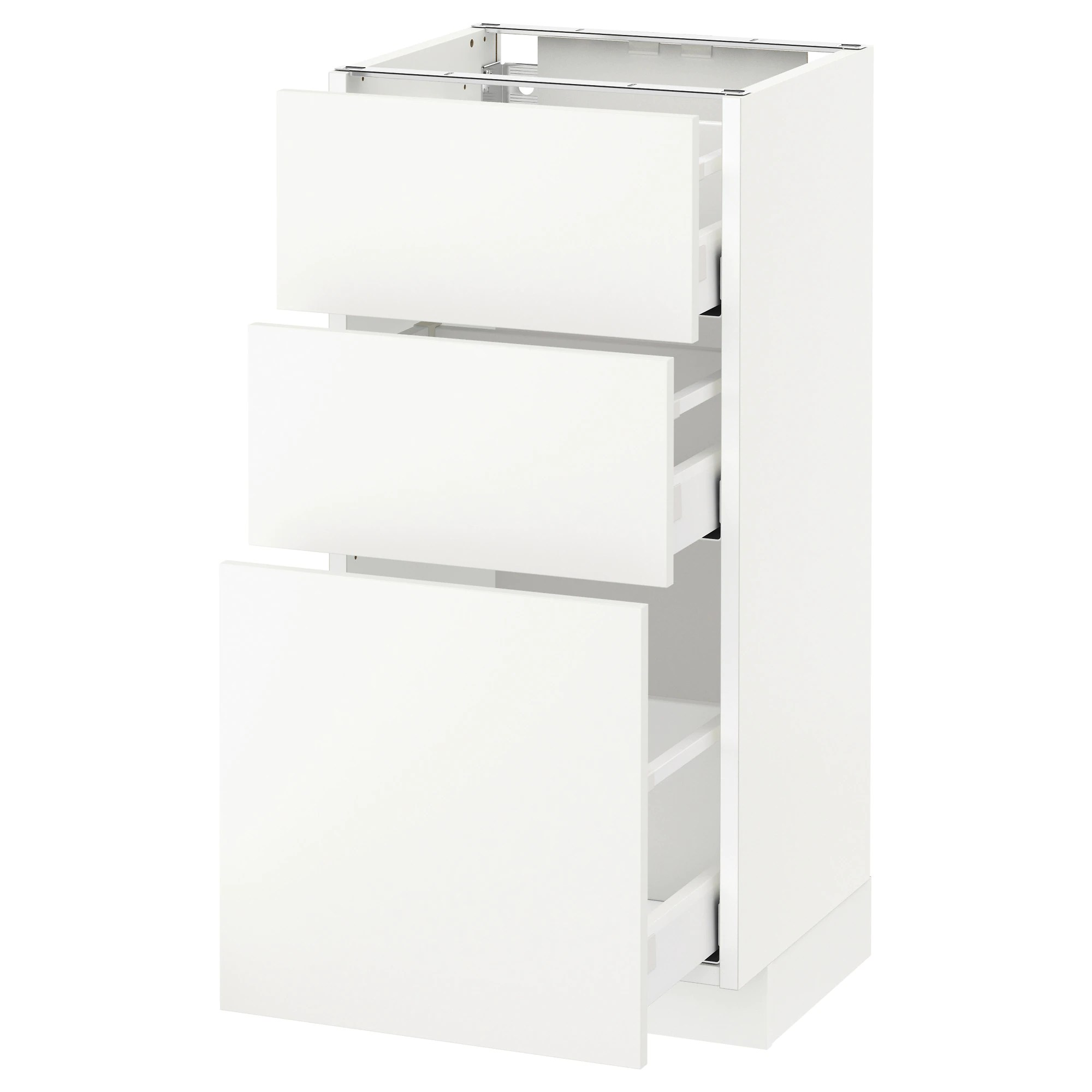 Küche Ikea Häggeby Metod Maximera Base Cabinet With 3 Drawers White Häggeby White