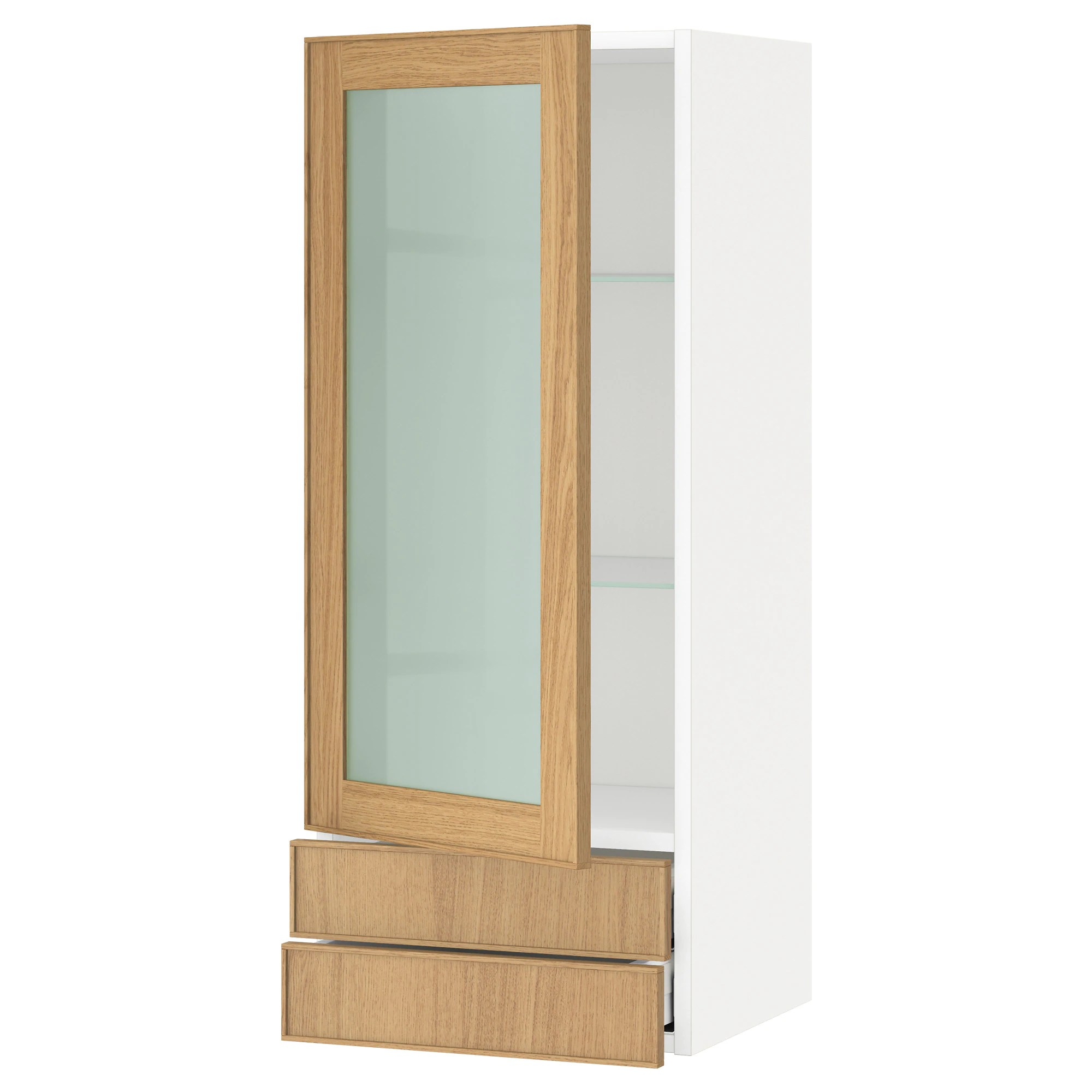 Ikea Küche Metod Maximera Metod Maximera Wall Cabinet W Glass Door 2 Drawers White Edserum Brown