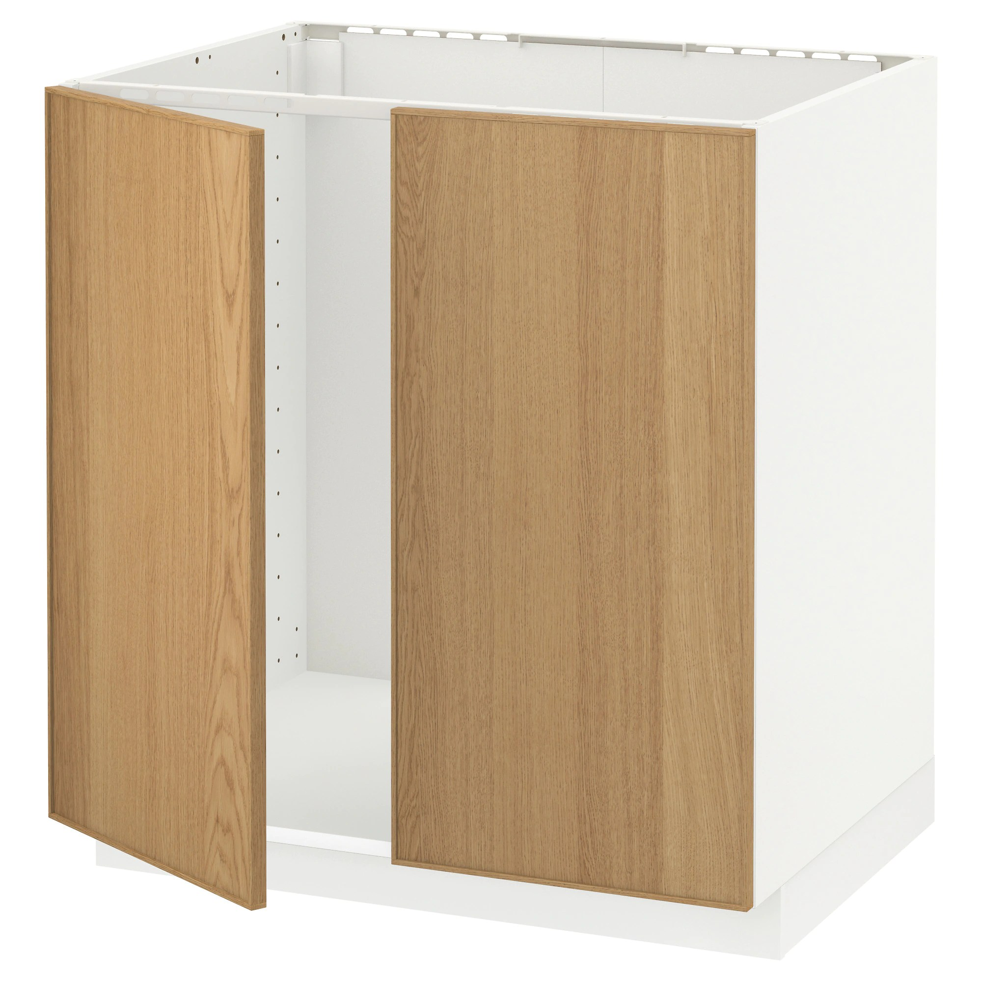 Cucina Ikea Tingsryd Jarsta Metod Base Cabinet For Sink 2 Doors White Lerhyttan Black Stained