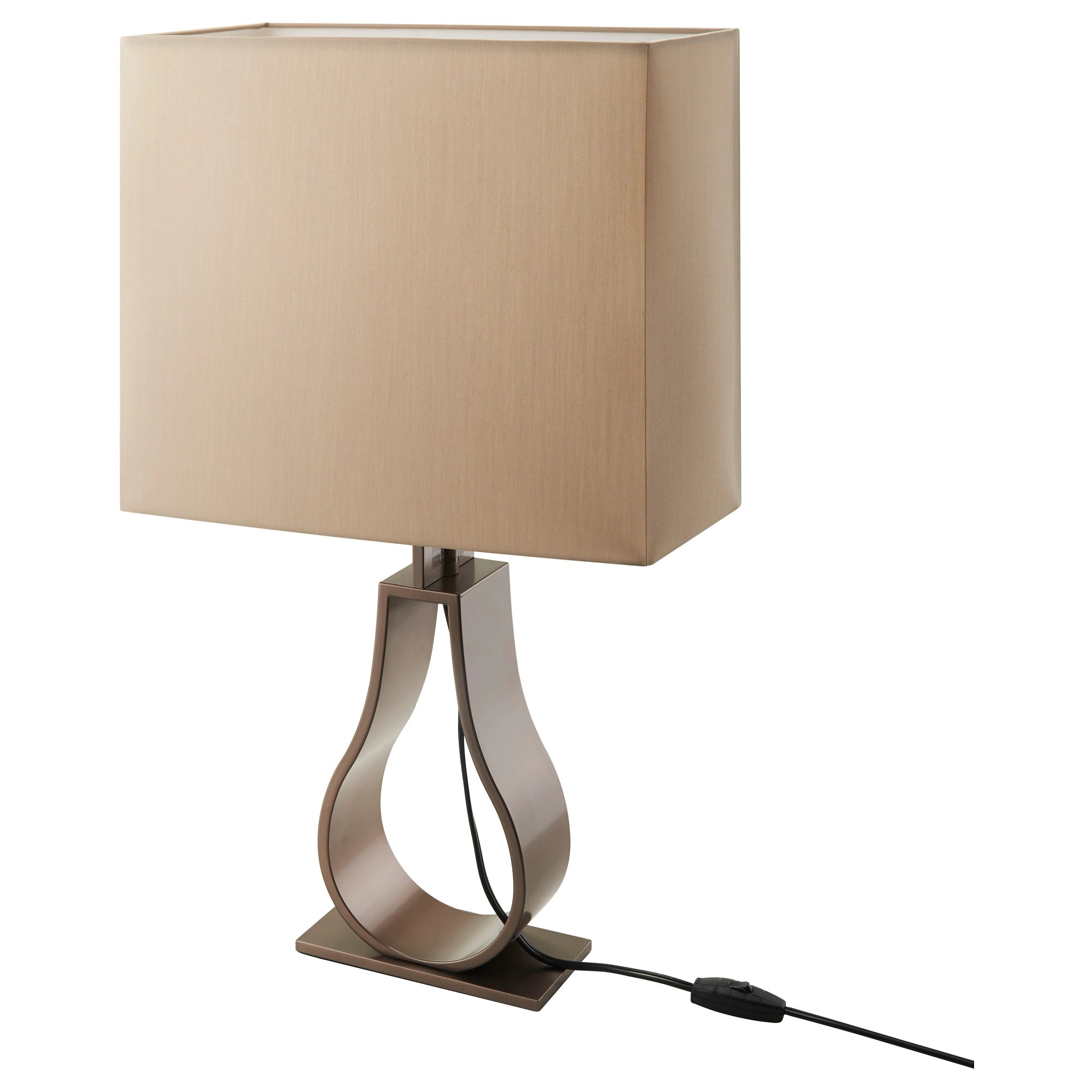Klabb Table Lamp Light Brown Bronze Color Ikea - Lampe De Salon Moderne Ikea