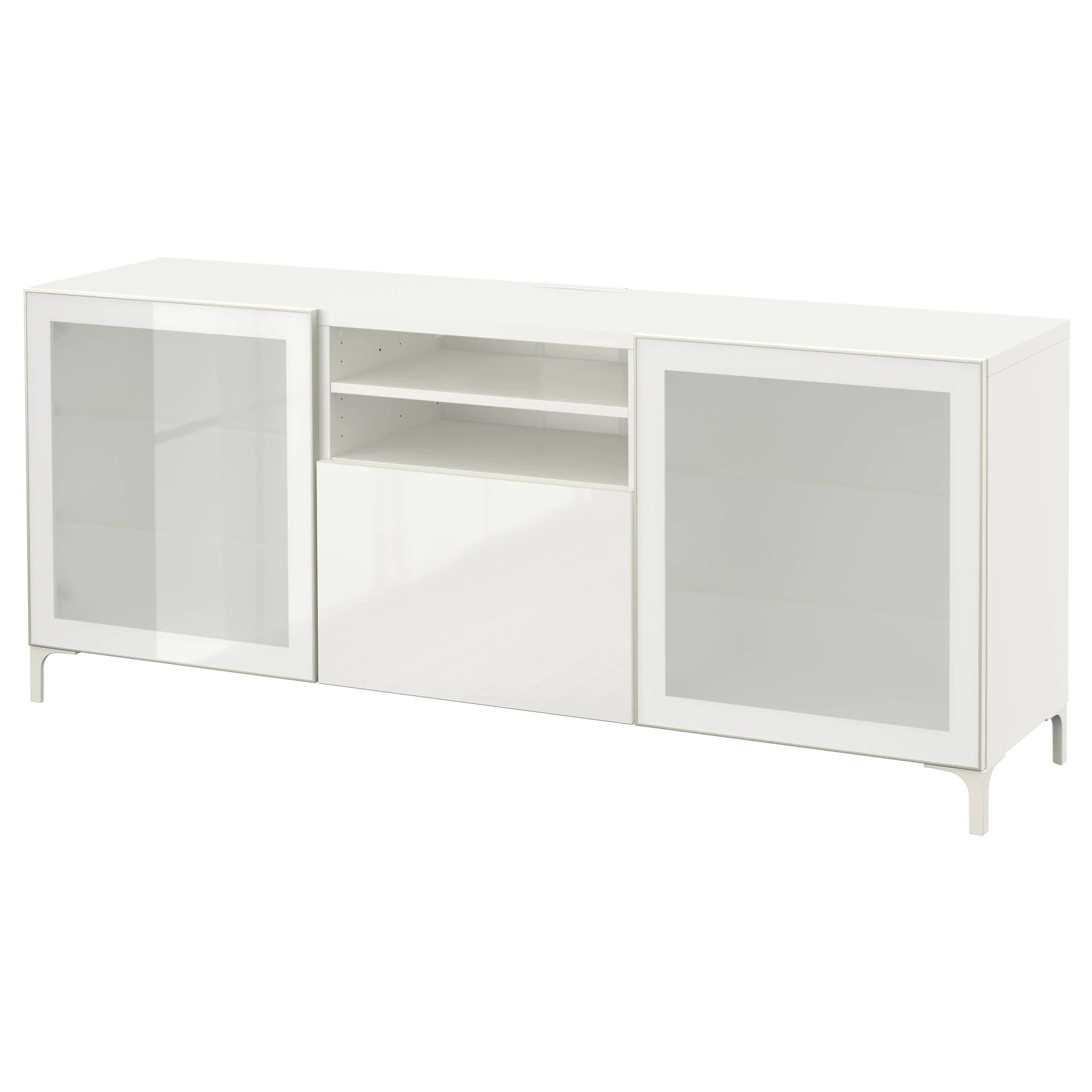 Ikea Tv Unit BestÅ Tv Unit With Drawers White Selsviken High Gloss White Frosted Glass