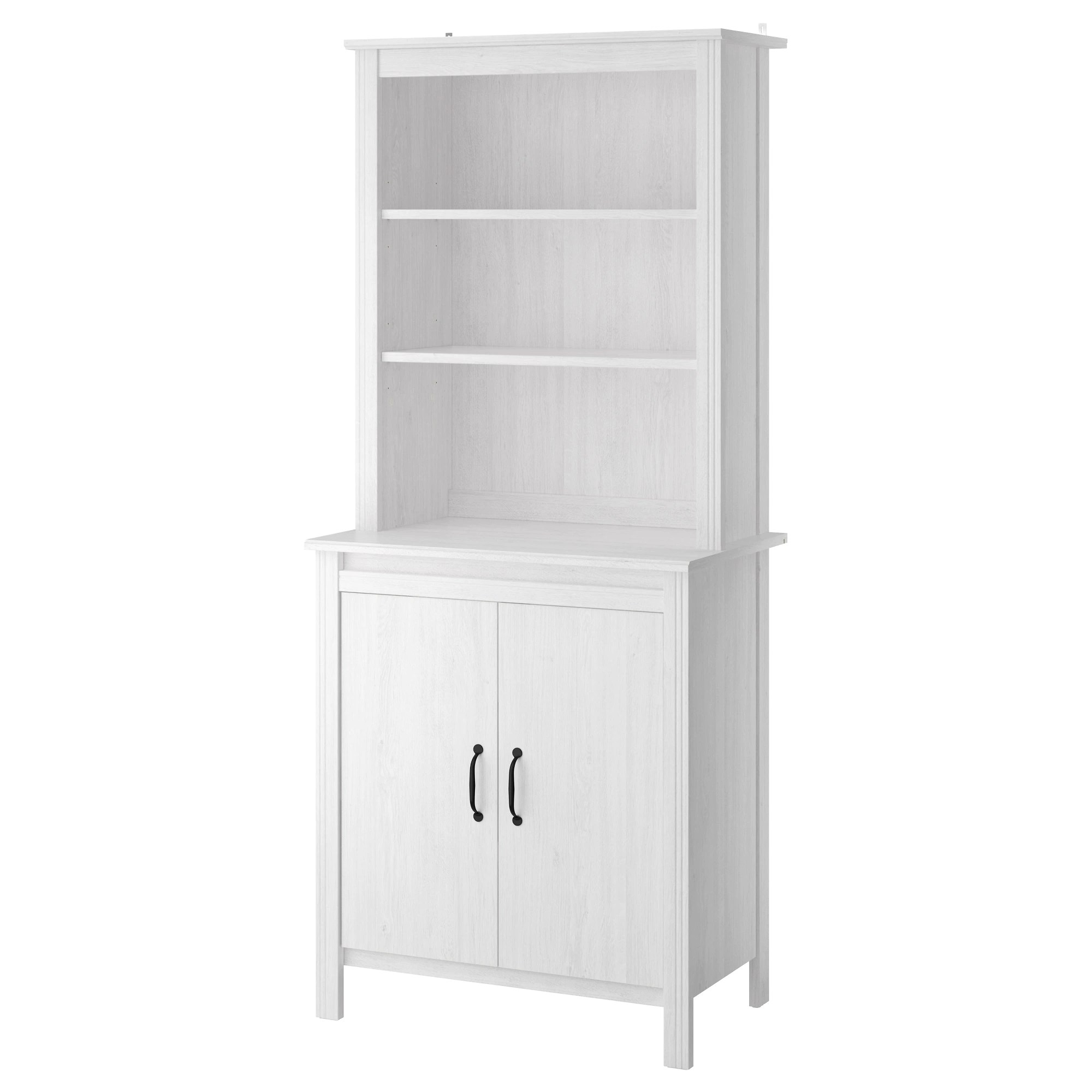 Ikea Storage Cabinets Brusali High Cabinet With Doors White