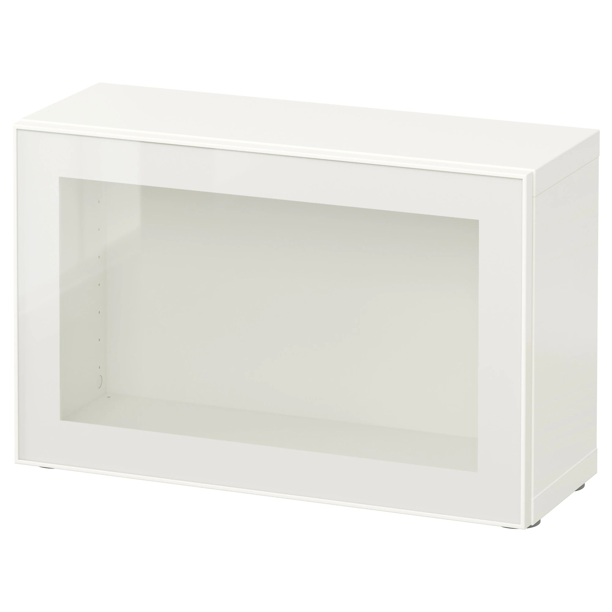 Etagere Besta Ikea BestÅ Shelf Unit With Glass Door White Glassvik White Clear Glass