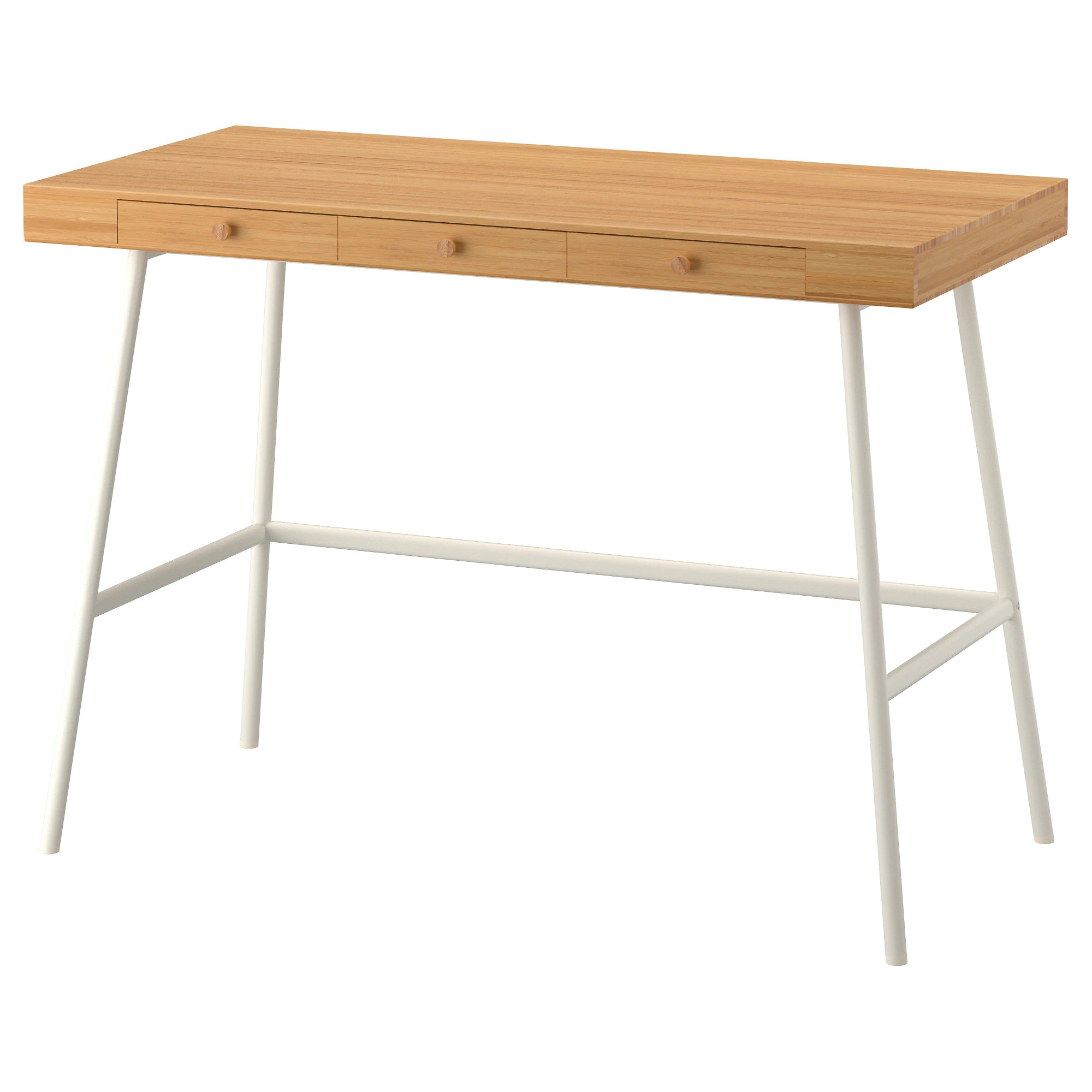 Ikea Table LillÅsen Desk Bamboo