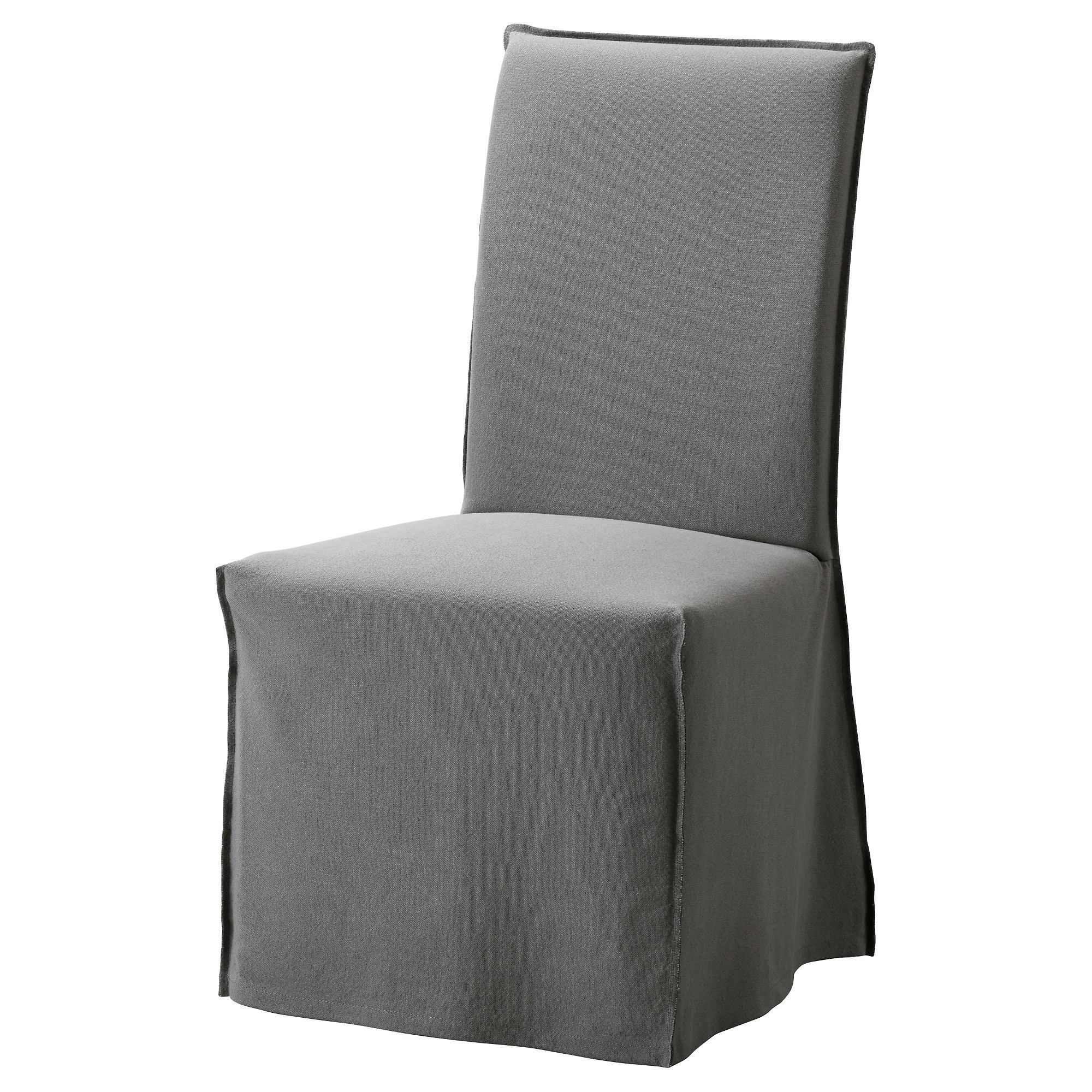 Chair Cover Henriksdal Chair Cover Long Risane Gray