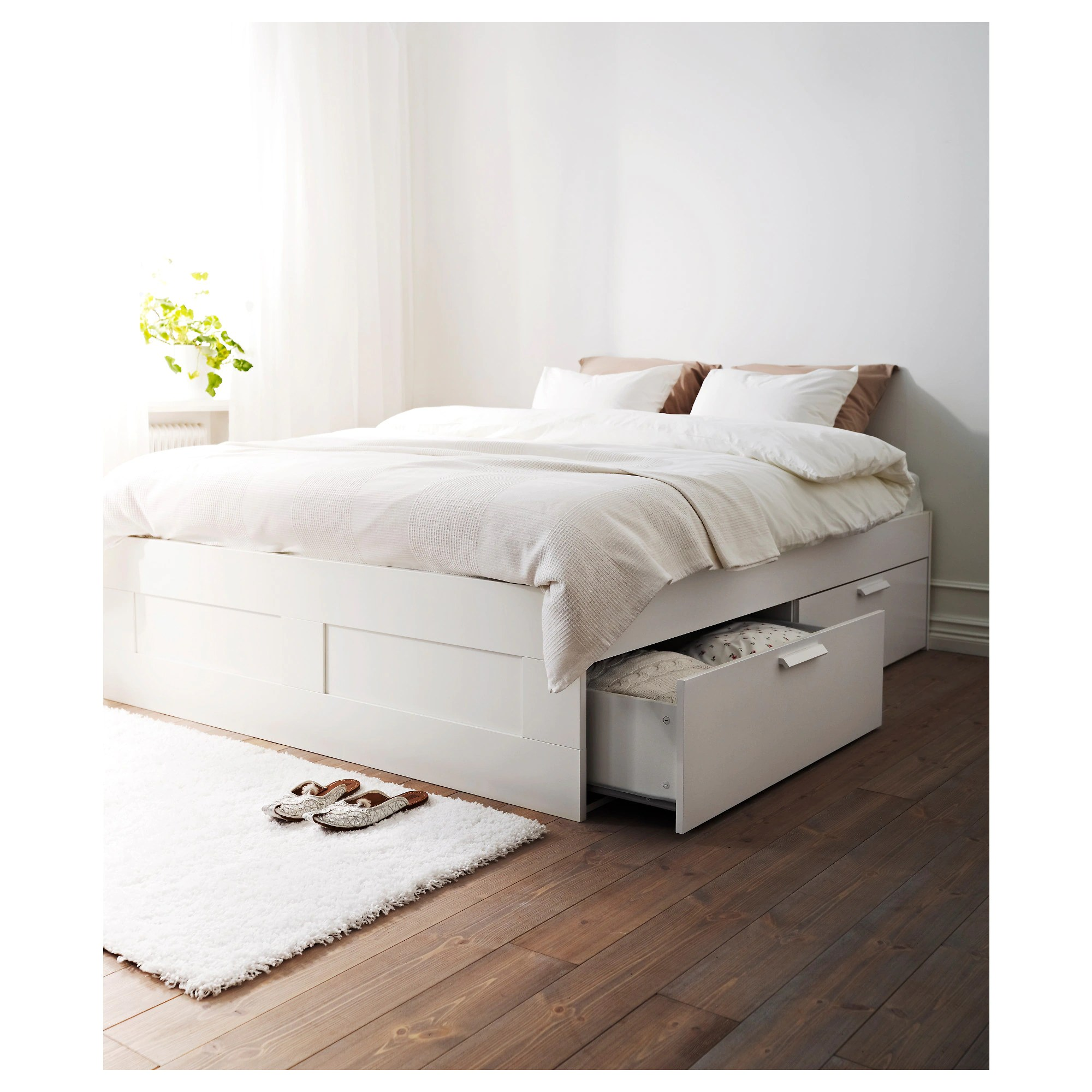 Bett 120x200 Bei Ikea Brimnes Bed Frame With Storage Queen White Ikea