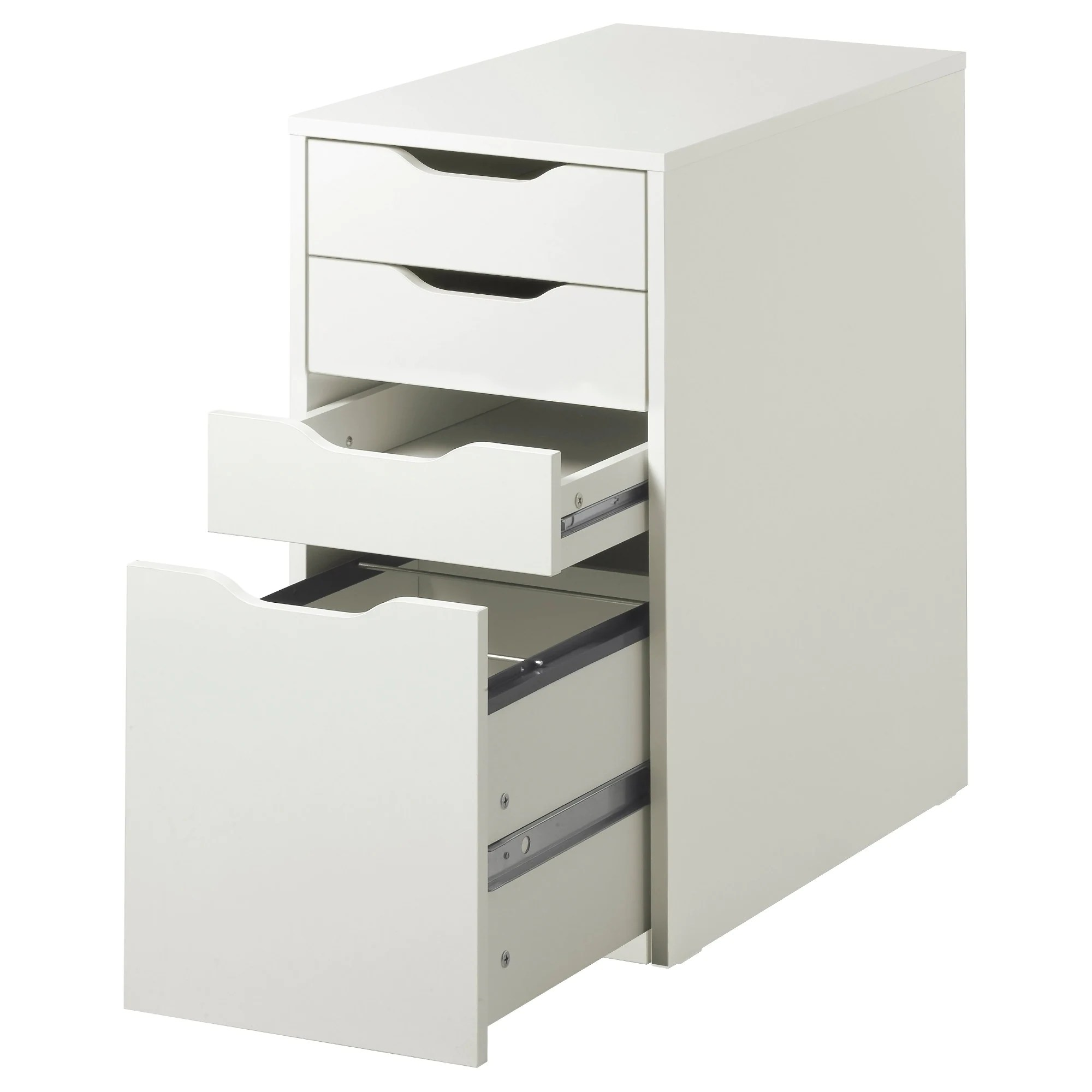 Filing Cabinet Icon Flat Alex Drawer Unit Drop File Storage White