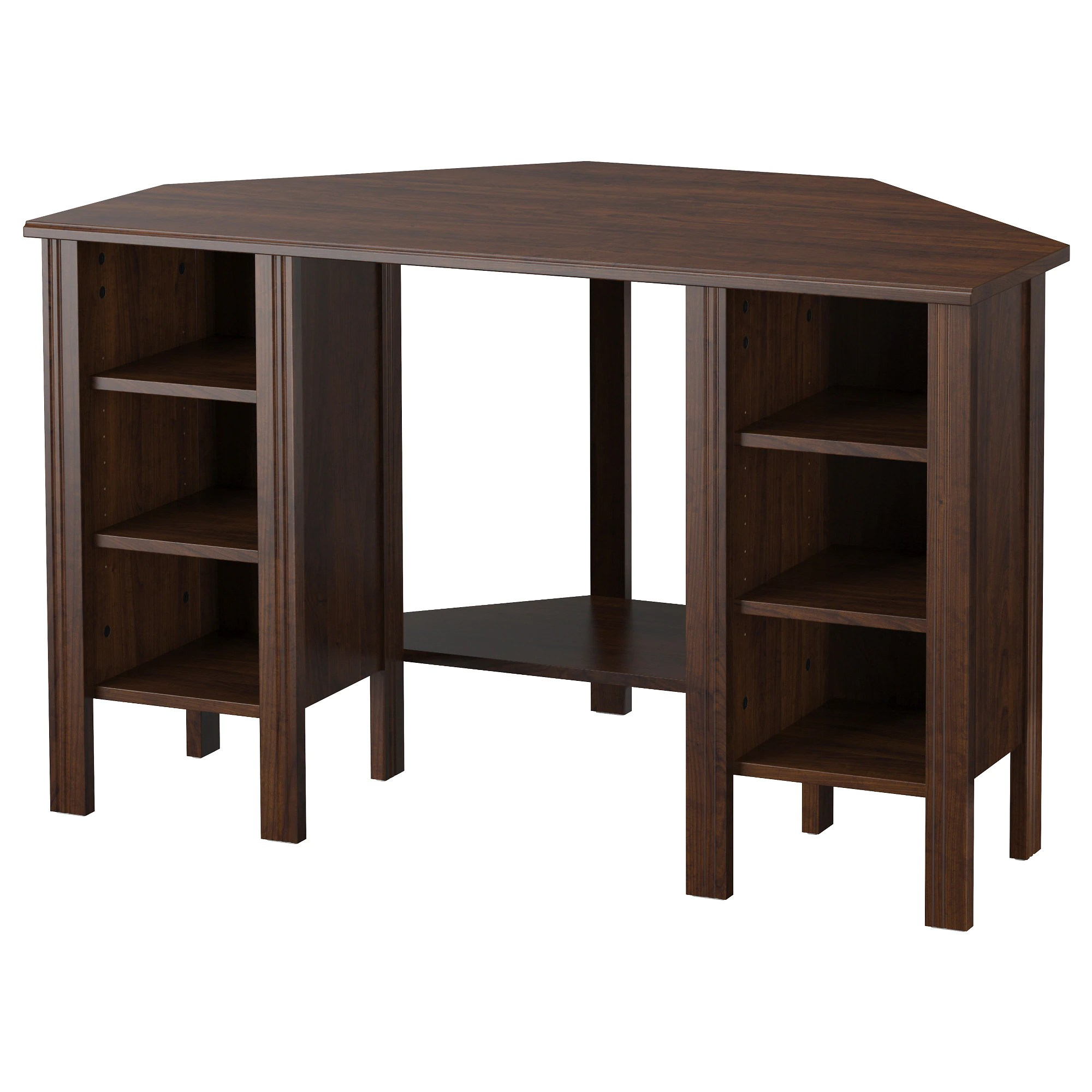 Ikea Table Brusali Corner Desk Brown