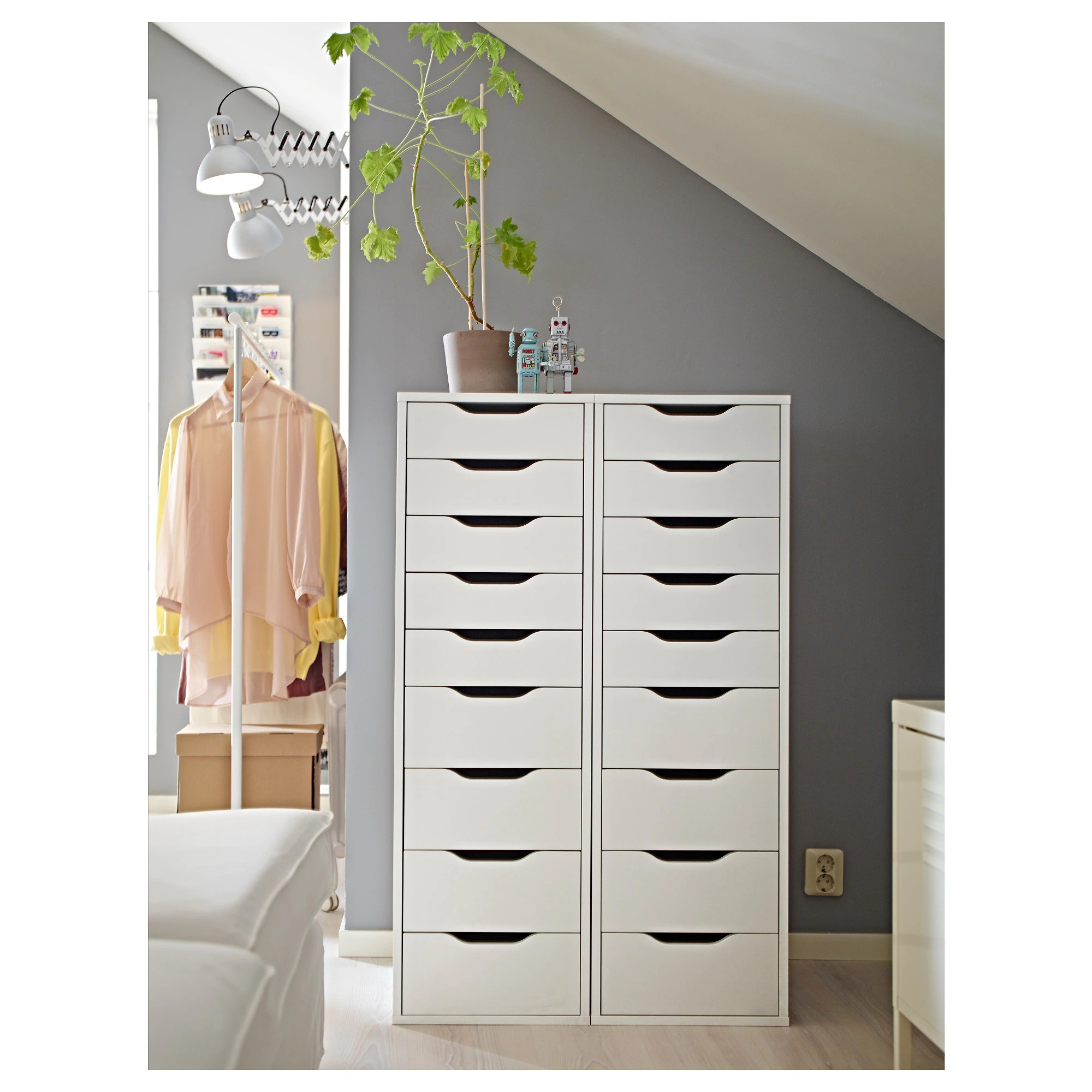 Cupboard Drawers Alex Drawer Unit With 9 Drawers White