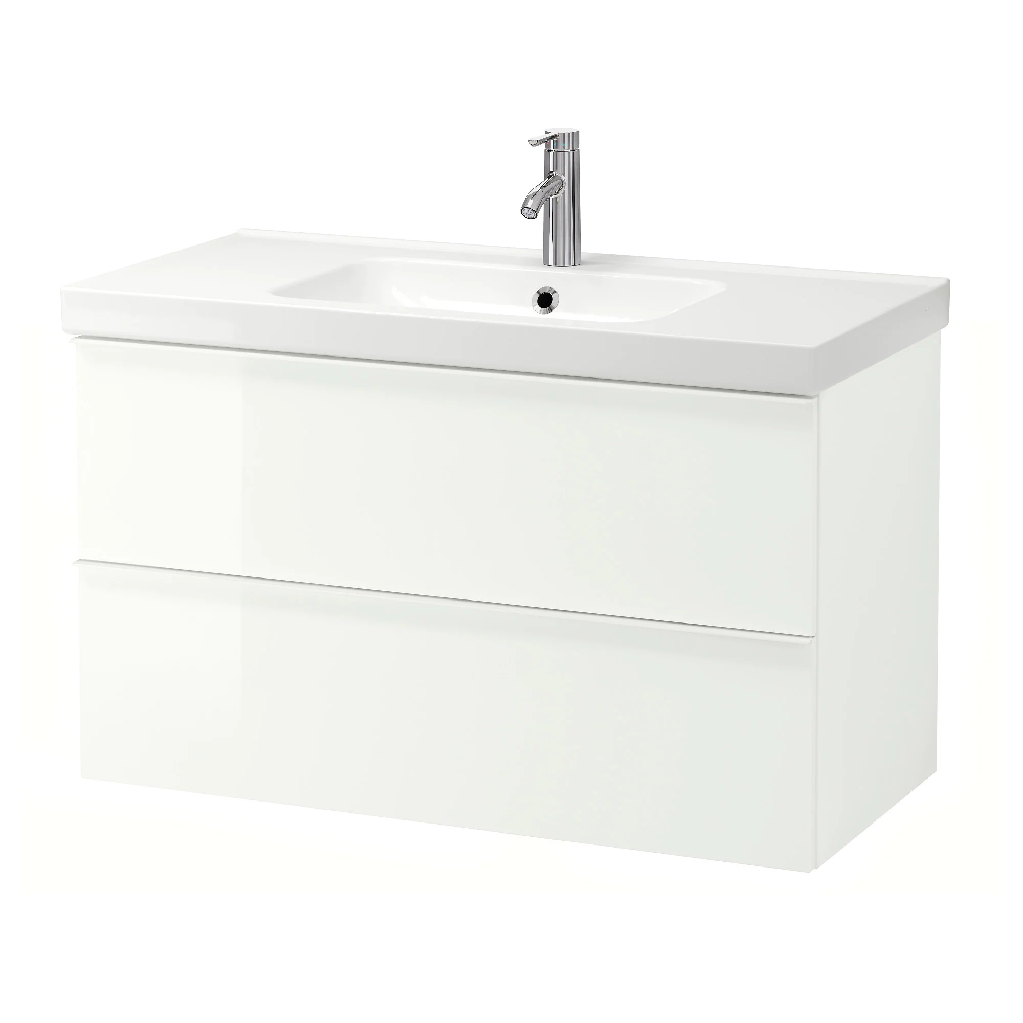 Vanity Ikea Godmorgon Odensvik Sink Cabinet With 2 Drawers White Stained Oak Effect