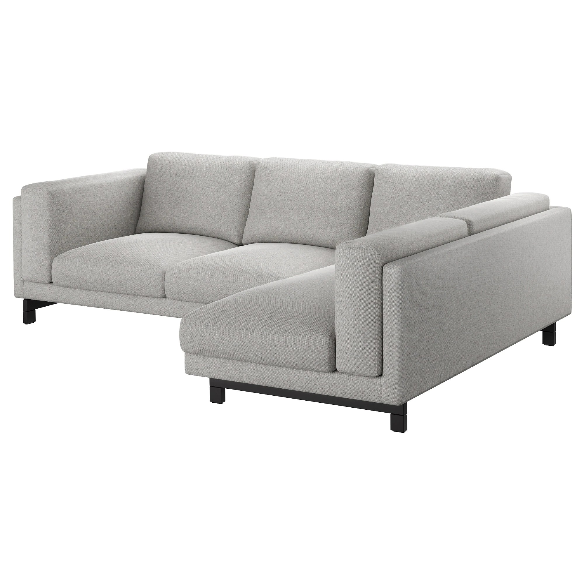 Sofa 3er Ikea Nockeby Sofa With Chaise Right Tallmyra Tallmyra Chrome Plated White Black Chrome Plated