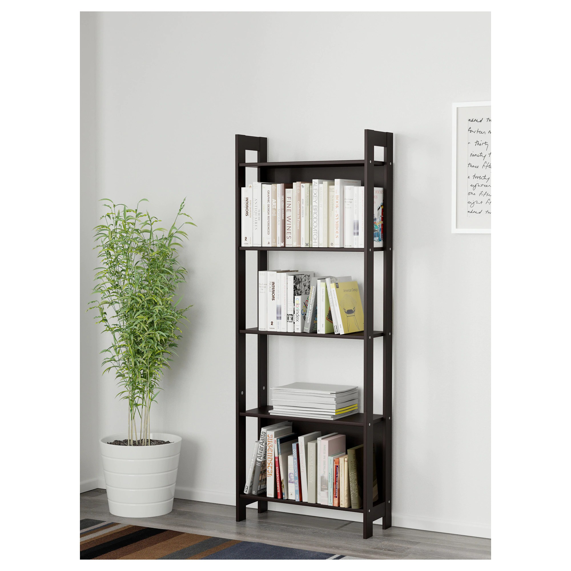 Laiva Regal Laiva Bookcase Black Brown
