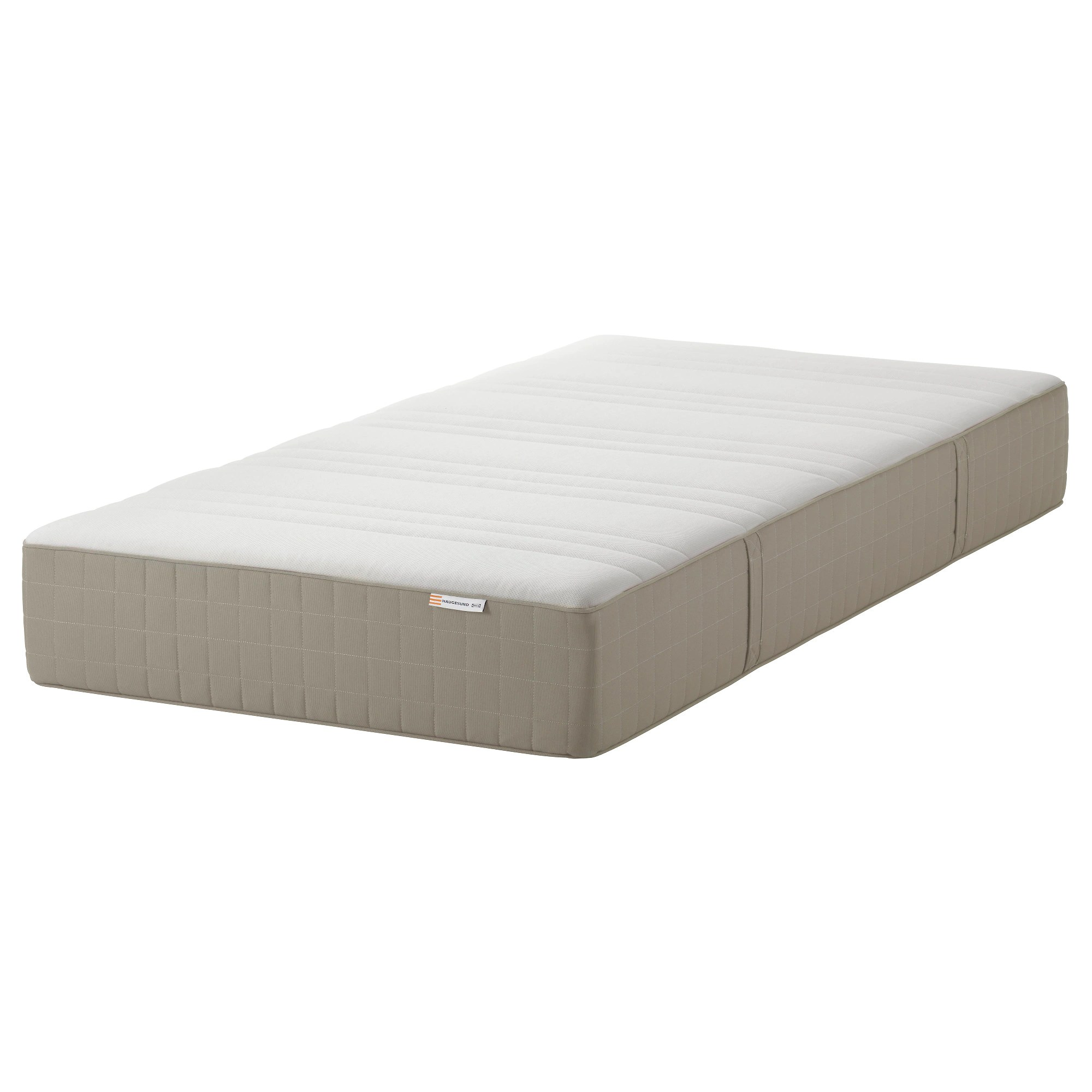 Box Spring Haugesund Spring Mattress Medium Firm Dark Beige