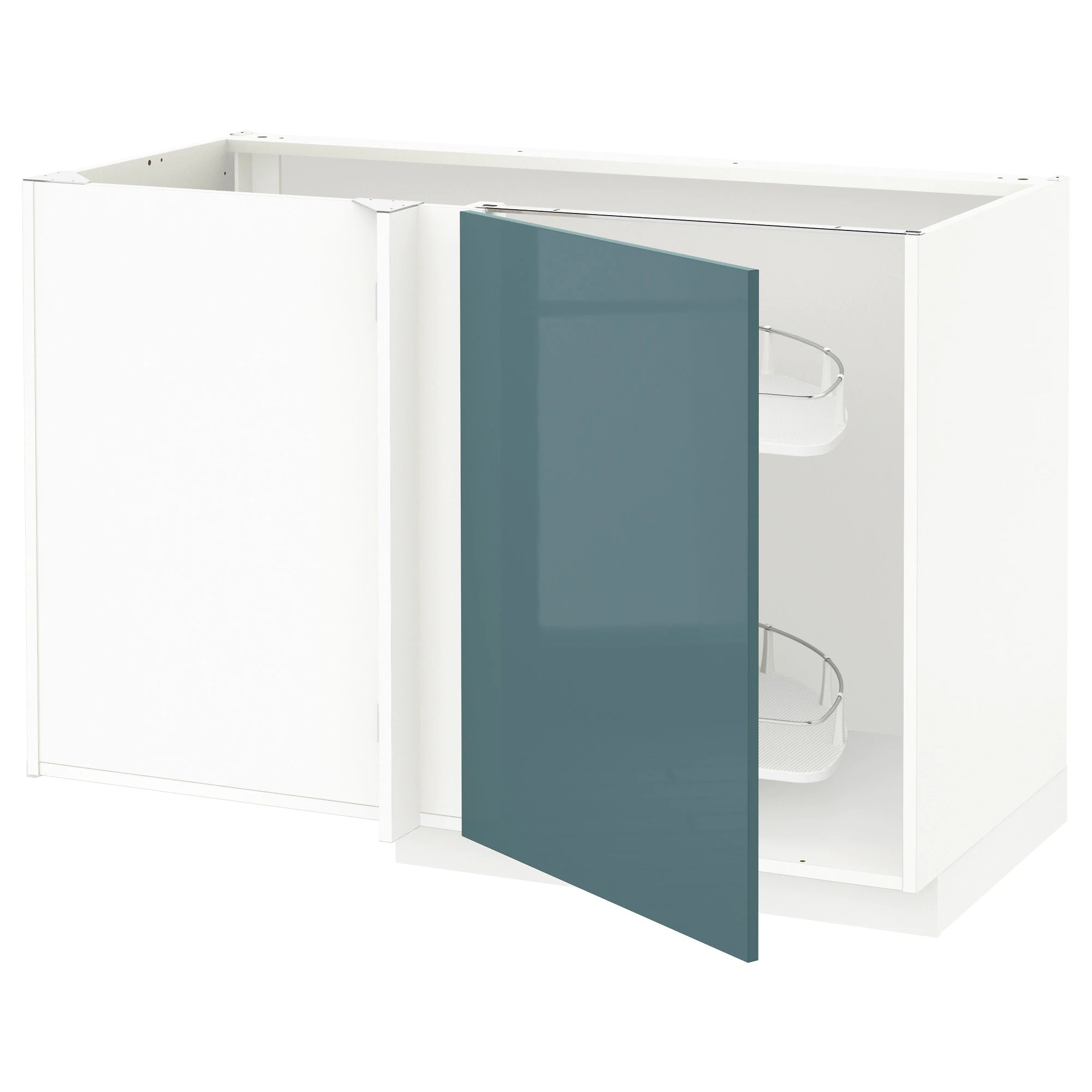 Cucina Ikea Tingsryd Jarsta Metod Corner Base Cab W Pull Out Fitting White Kallarp Grey Turquoise