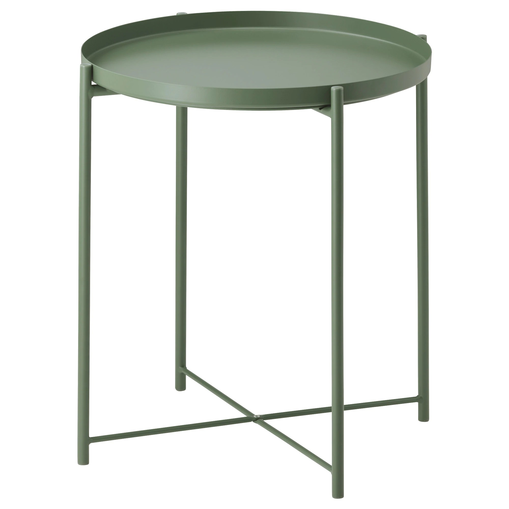 Table Bar Ikea Gladom Tray Table Dark Green