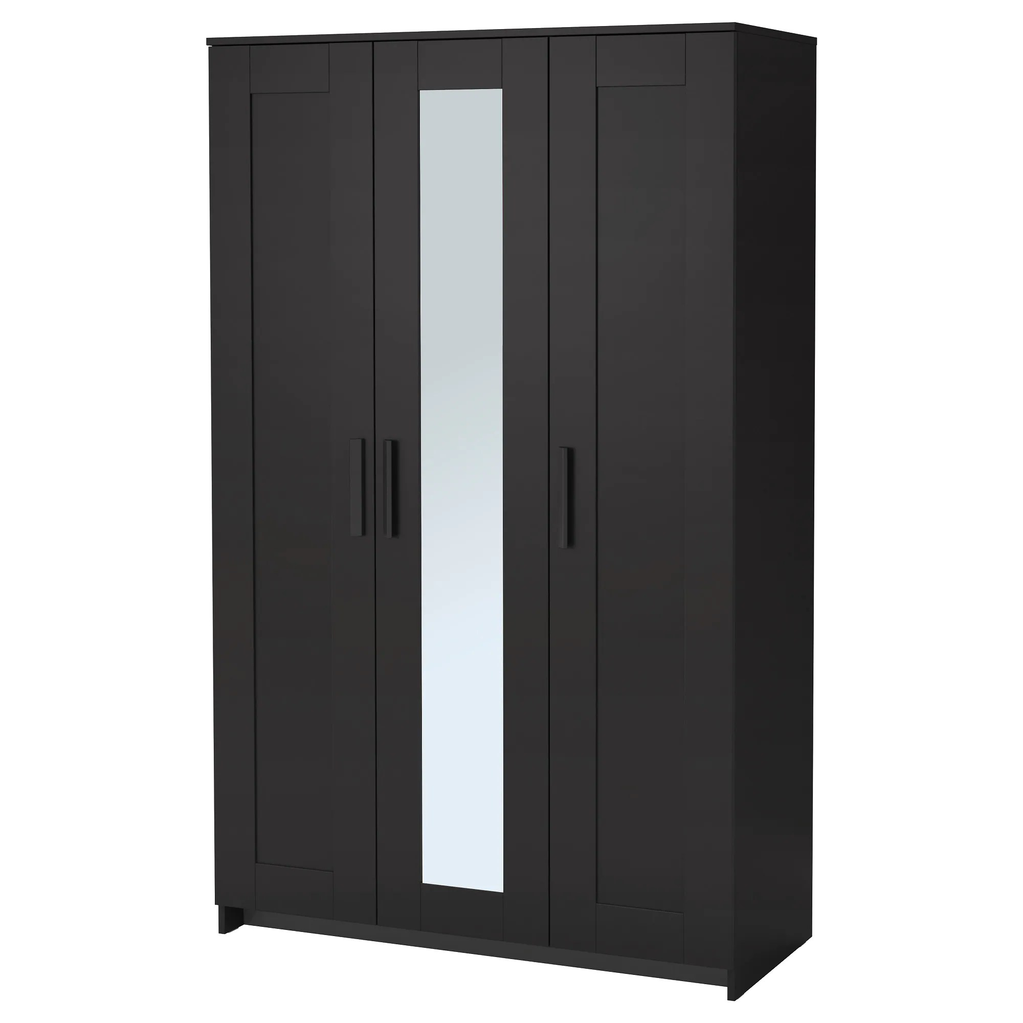 Ikea Pax Click And Collect Brimnes Wardrobe With 3 Doors Black