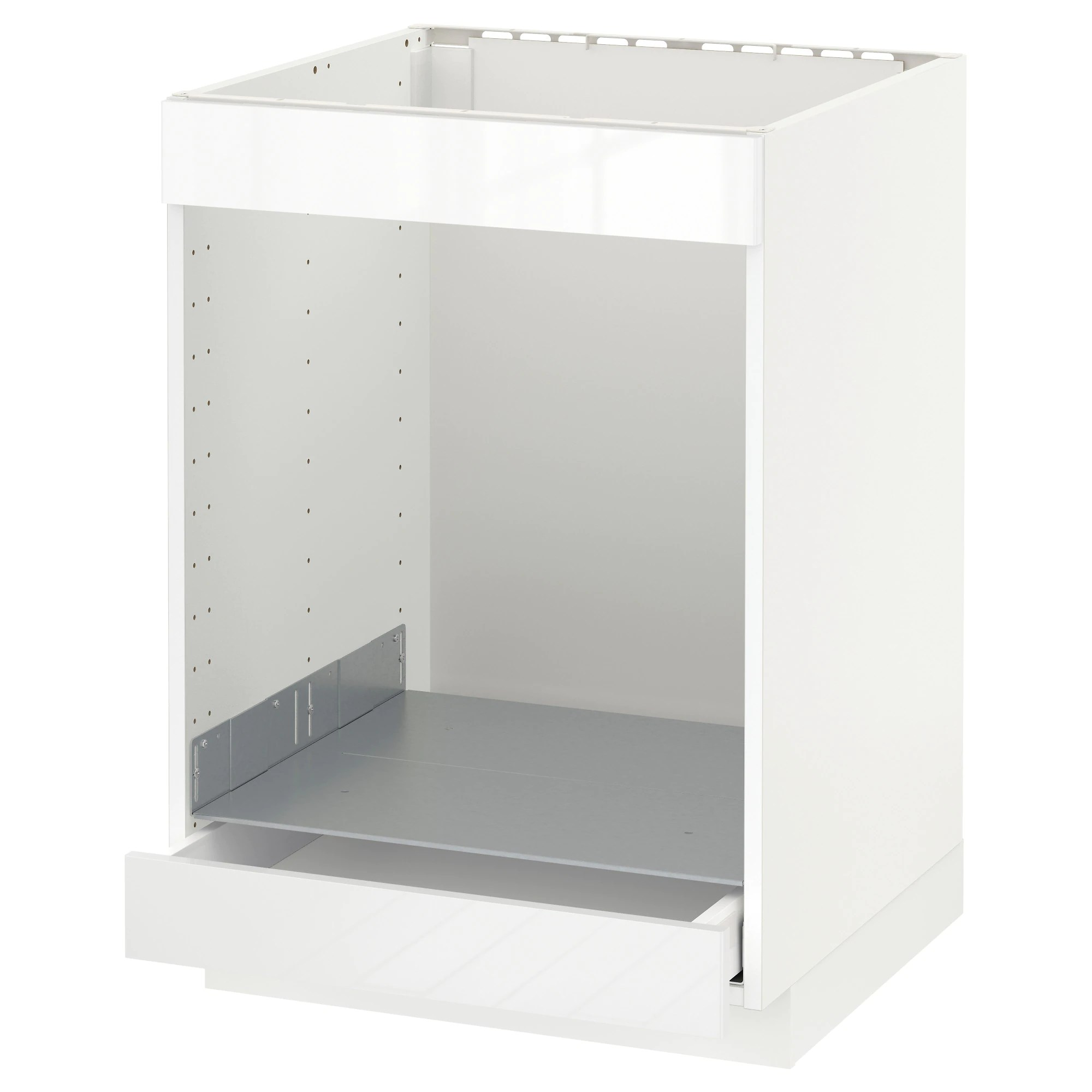 Meubles Cases Ikea Base Cab For Hob Oven W Drawer Metod Maximera White Ringhult White