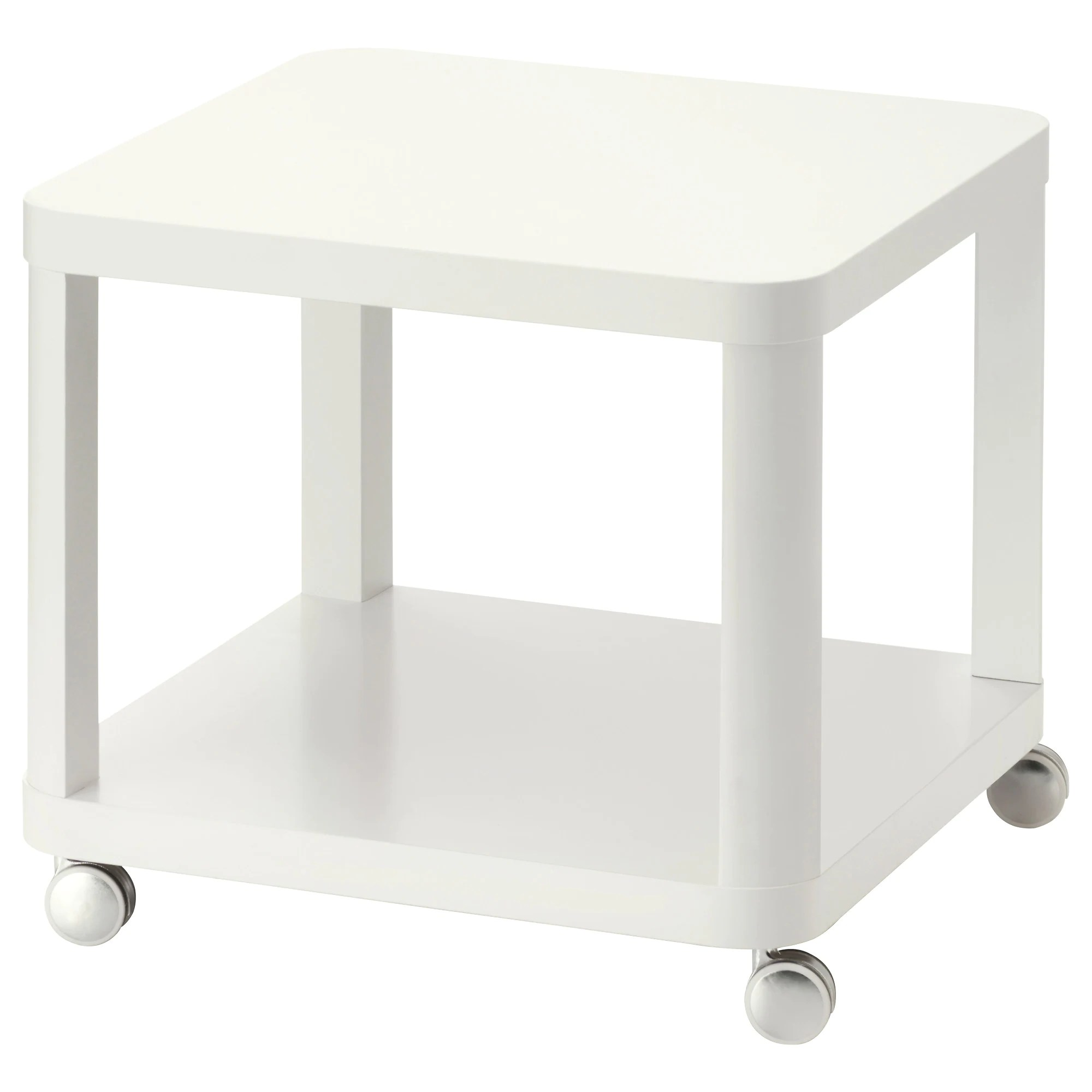 Coffee And Side Tables Tingby Side Table On Casters White