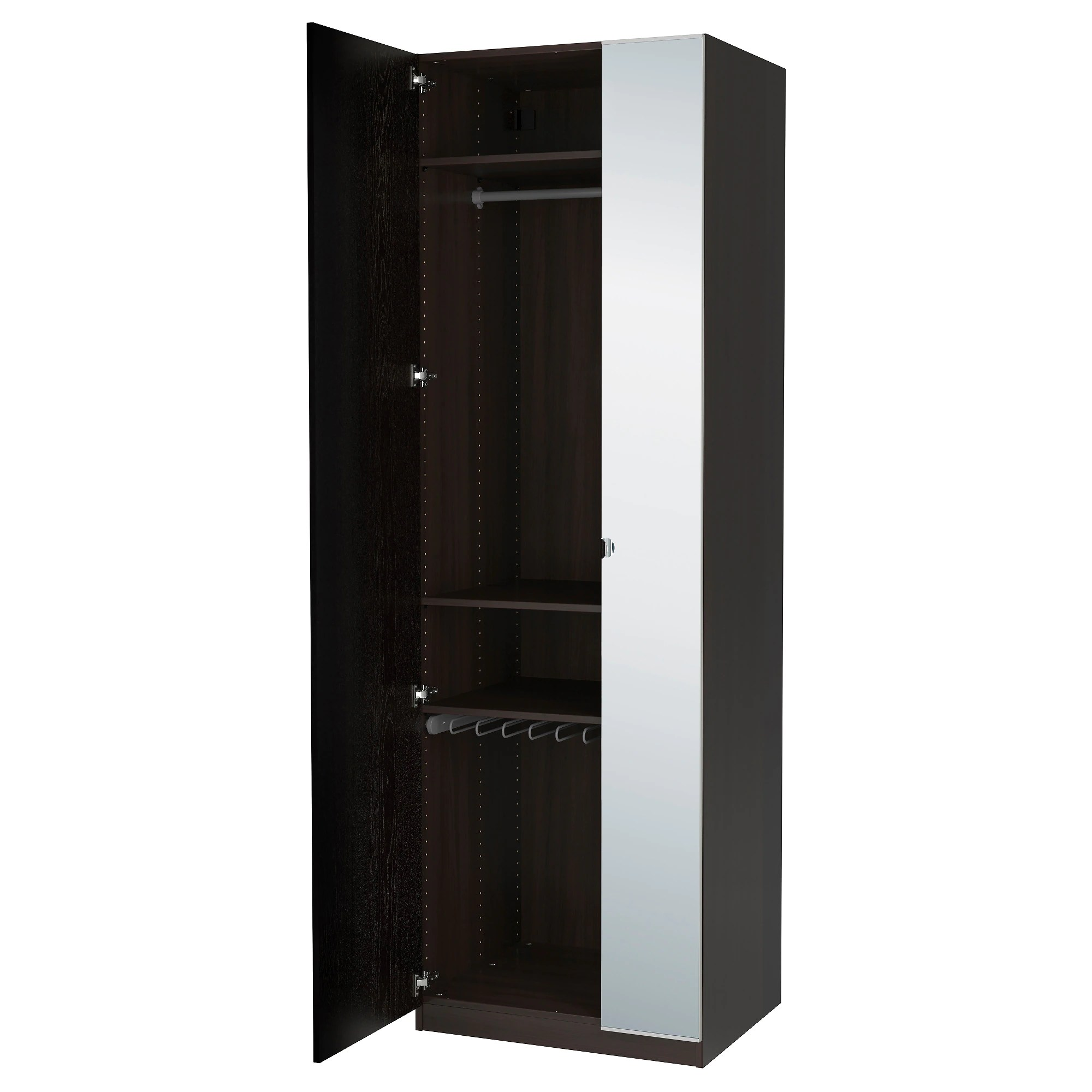 Ikea Schrank Code Pax Wardrobe Black Brown Nexus Vikedal