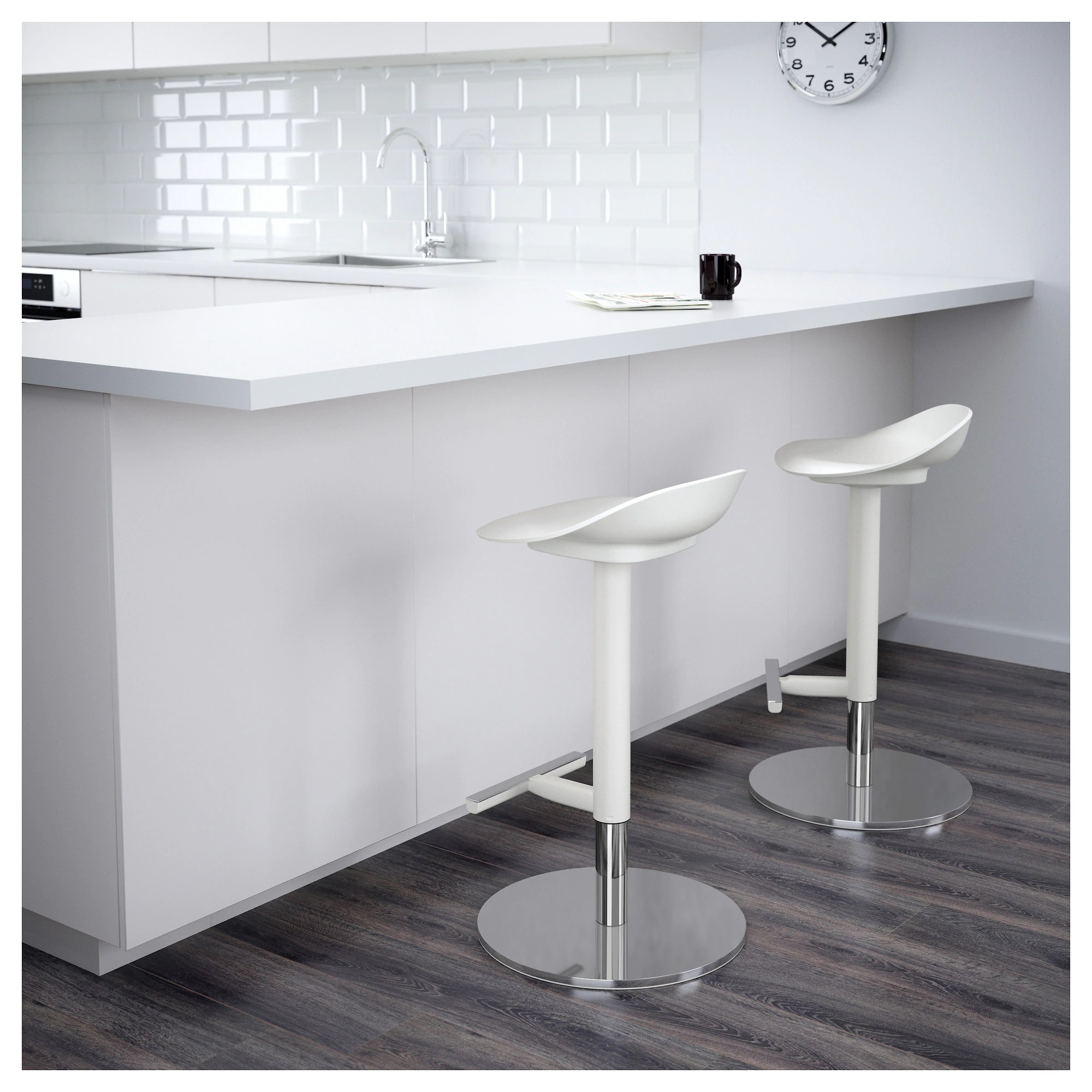 Ikea Barstuhl Janinge Bar Stool White