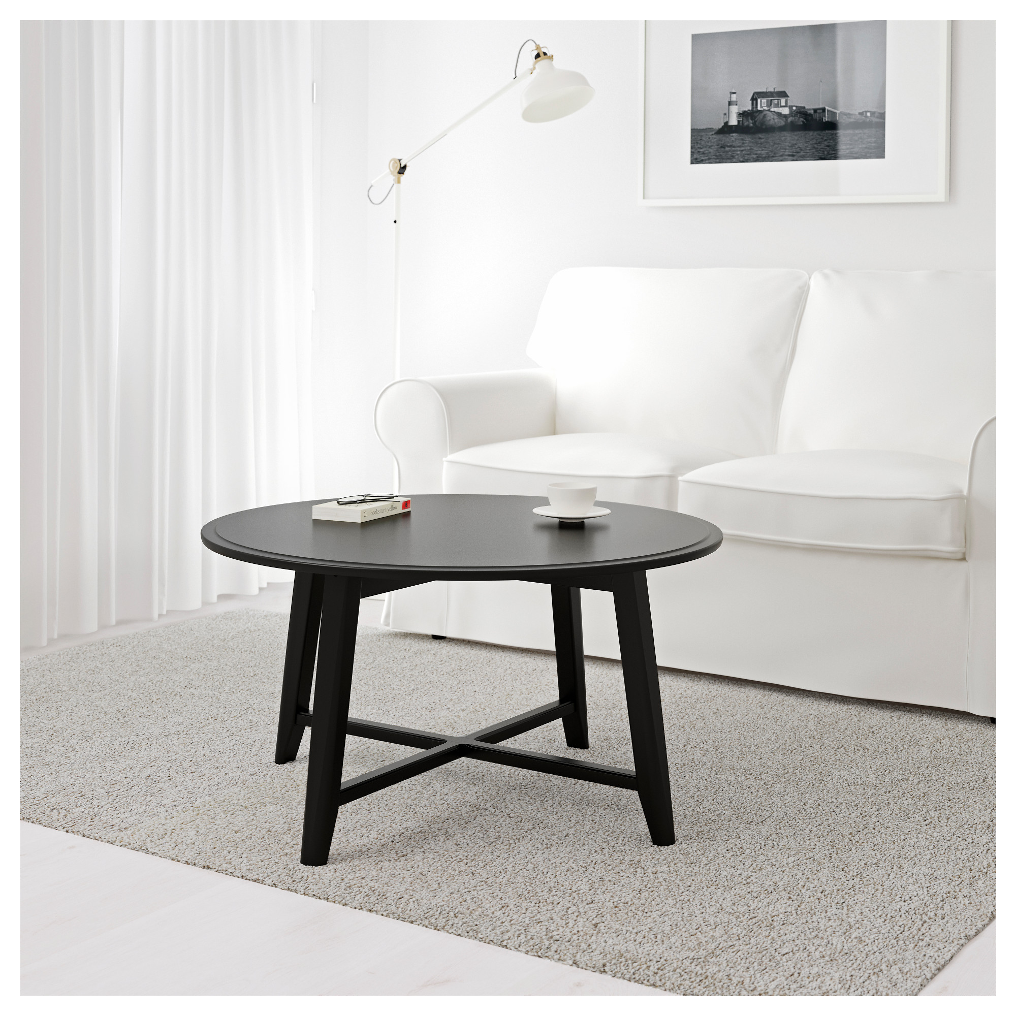 Couchtisch Oak Grey Kragsta Coffee Table Black