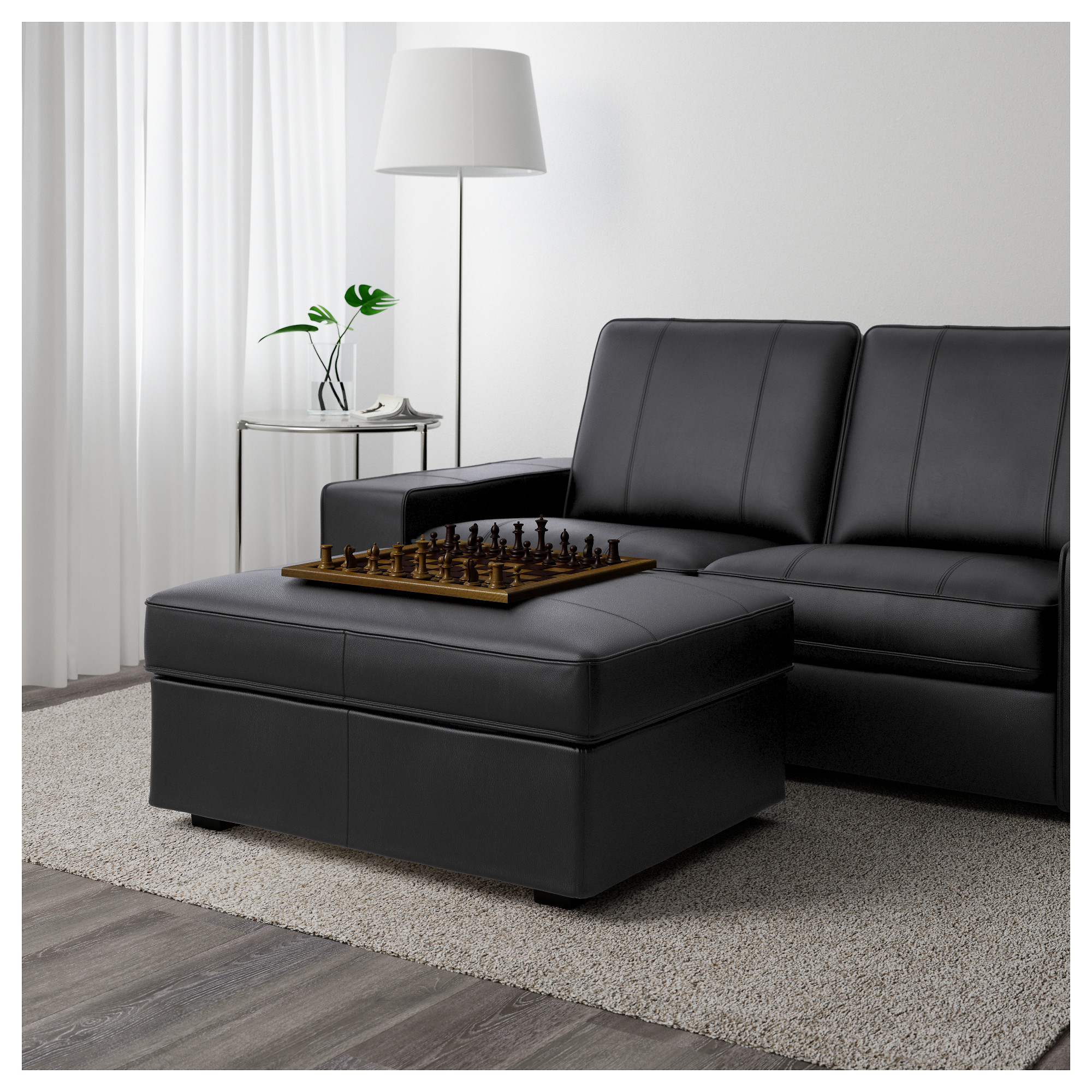 Kivik Sofa Leather Kivik Ottoman Grann Bomstad Dark Brown