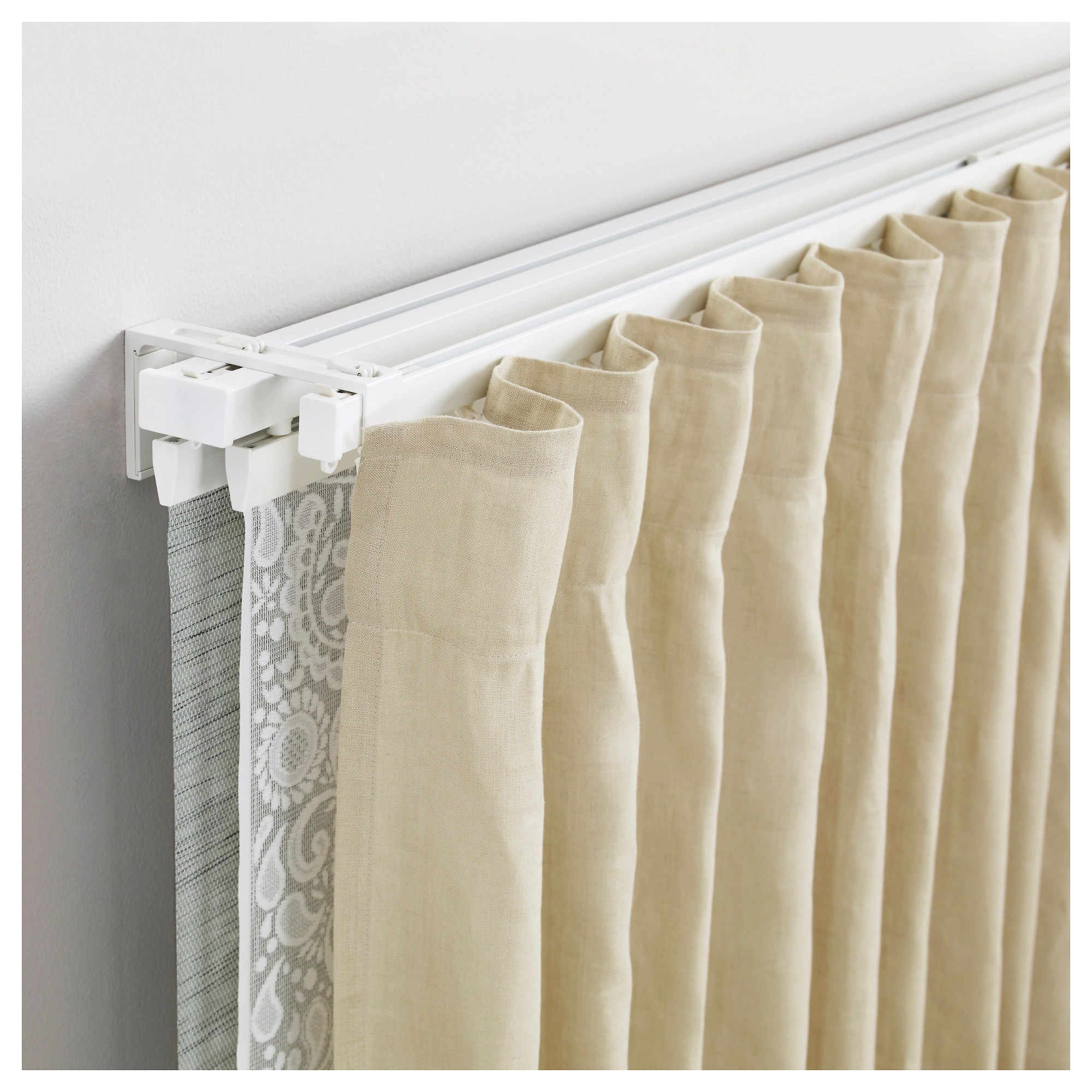 Ikea Perth Curtains Vidga Single And Triple Track Set White